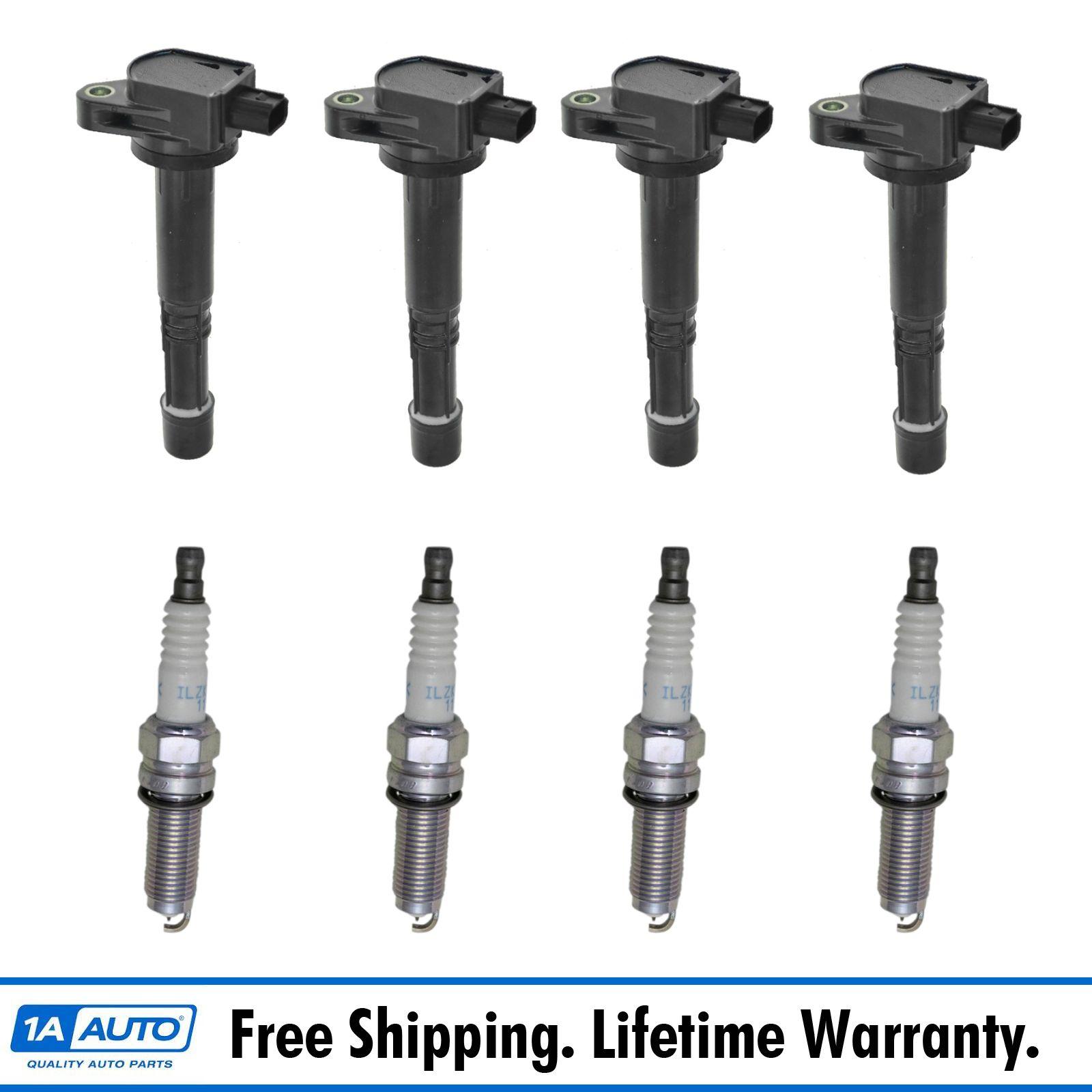 TRQ Engine Ignition Coil & NGK Spark Plug Kit 8 Piece Set