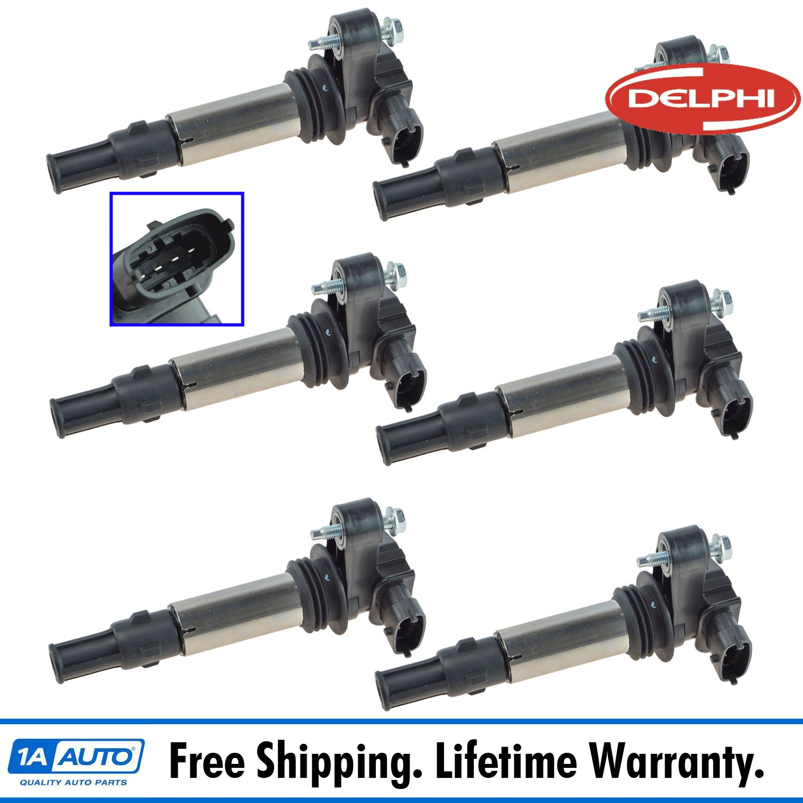 Delphi GN10309 Ignition Coils COP Set Of 6 For Buick