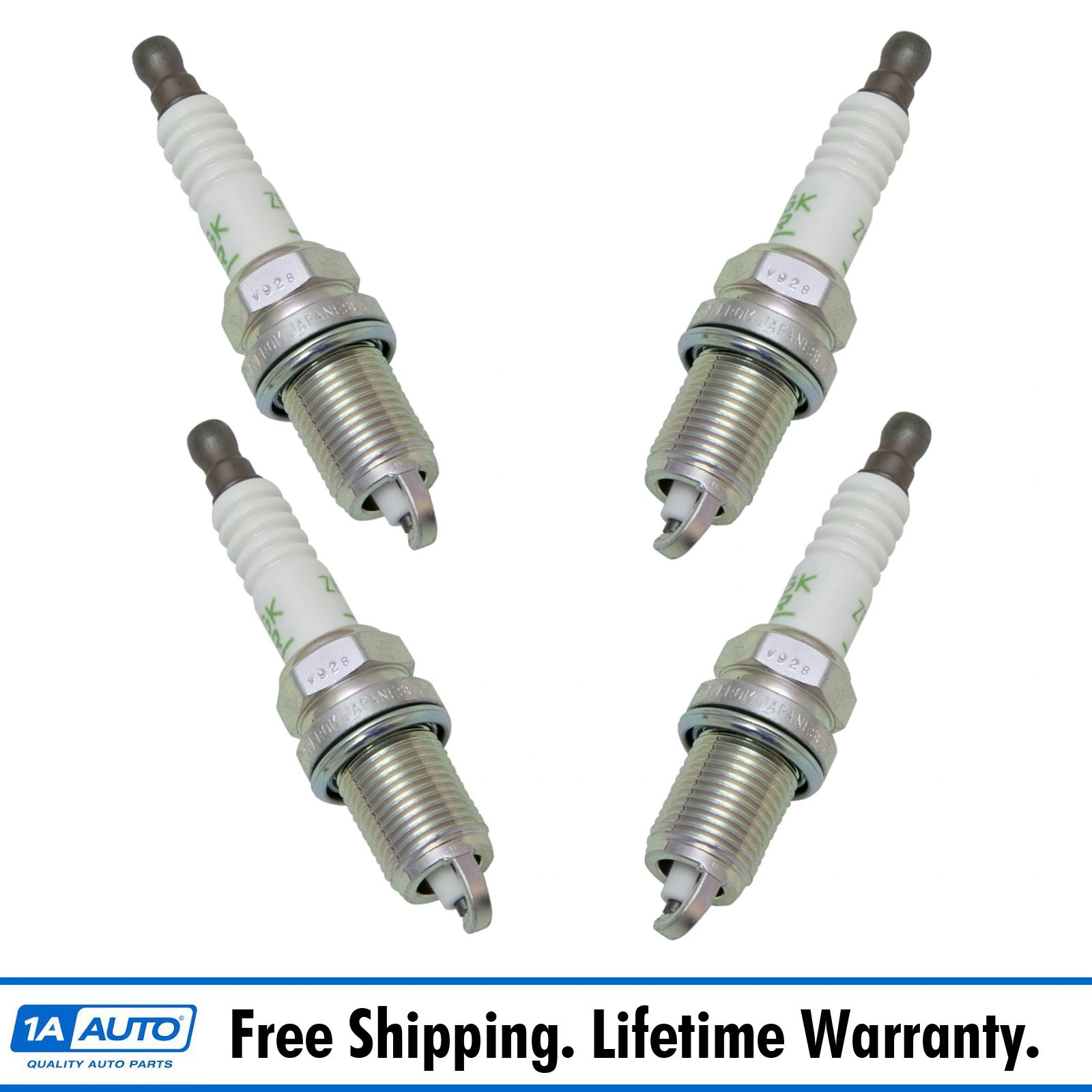 NGK V-Power 2262 Engine Ignition Spark Plug Kit Set Of 4