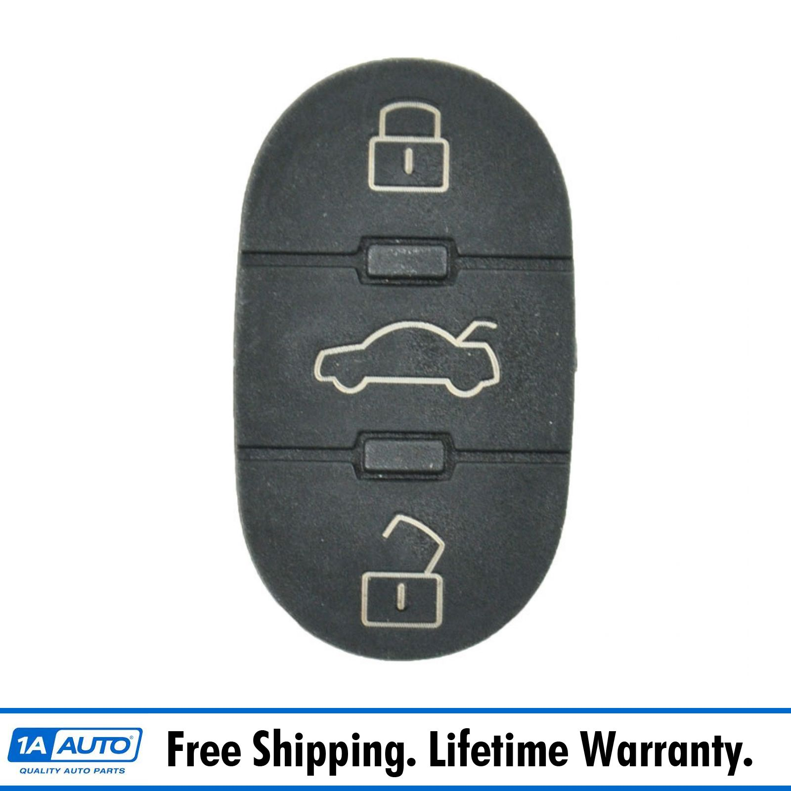 3 Button Keyless Remote Switch Insert Pad for Audi A4 S4 A6 A8 S6 S8 Allroad