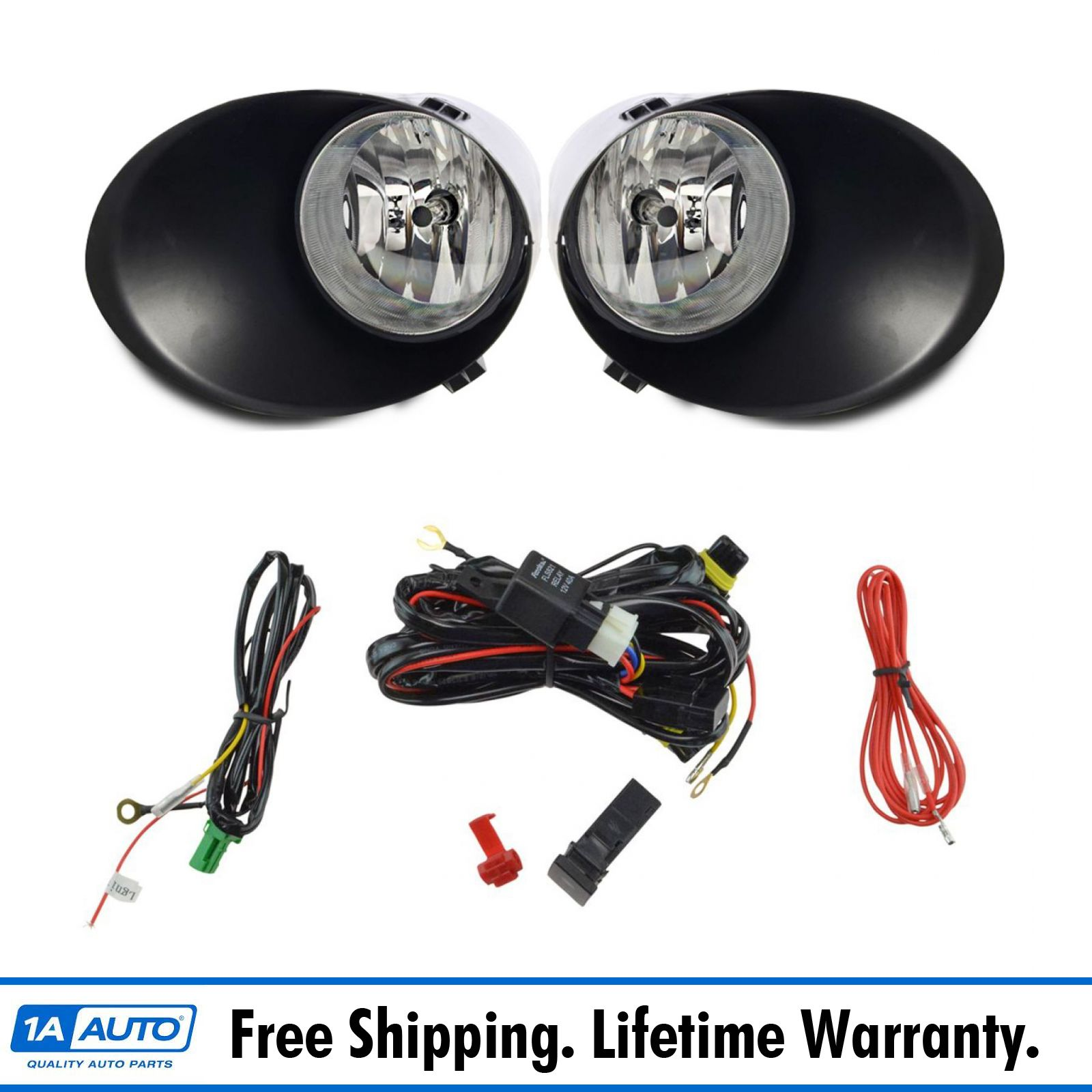 Prime Add On Upgrade Clear Lens Fog Light Bulb Switch Wiring Kit Set For Wiring Database Cominyuccorg