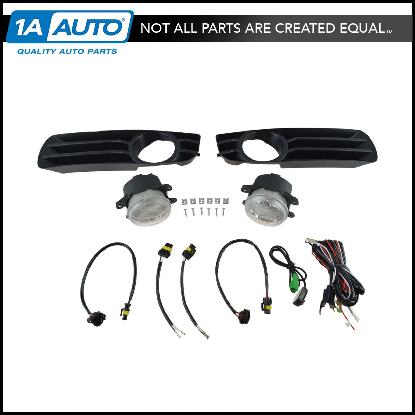 1ALFZ00121 add on upgrade clear lens fog light bulb switch wiring kit set for