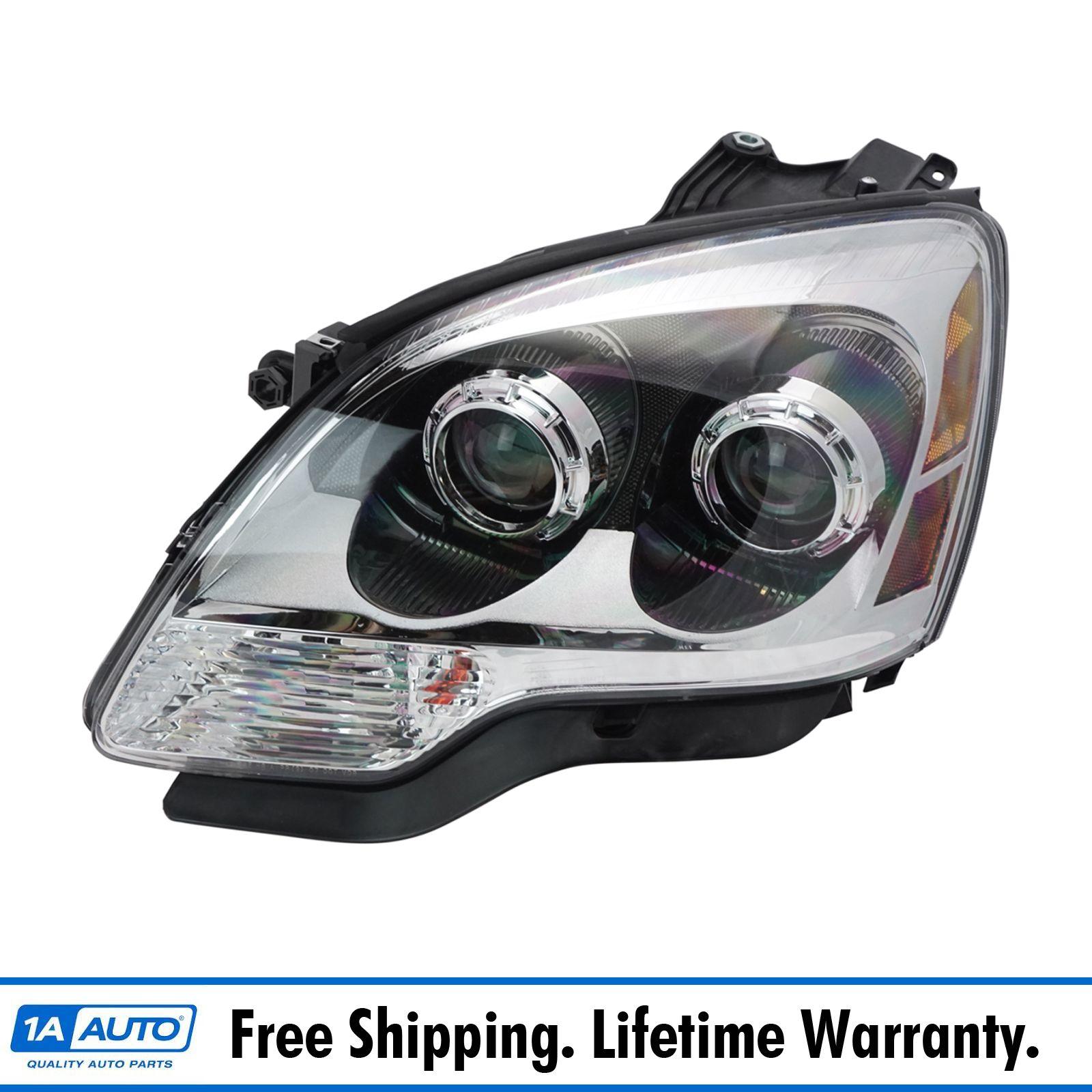 Left Right Sides Pair Halogen Blue Lens Headlights for 2007-2008 GMC ACADIA