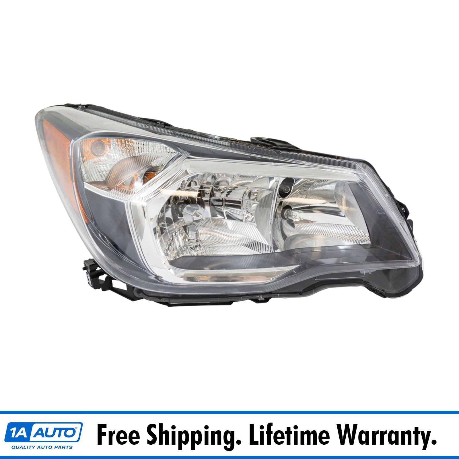 Halogen Headlight Headlamp Black Bezel LH RH Pair for 14-16 Subaru Forester 2.0L