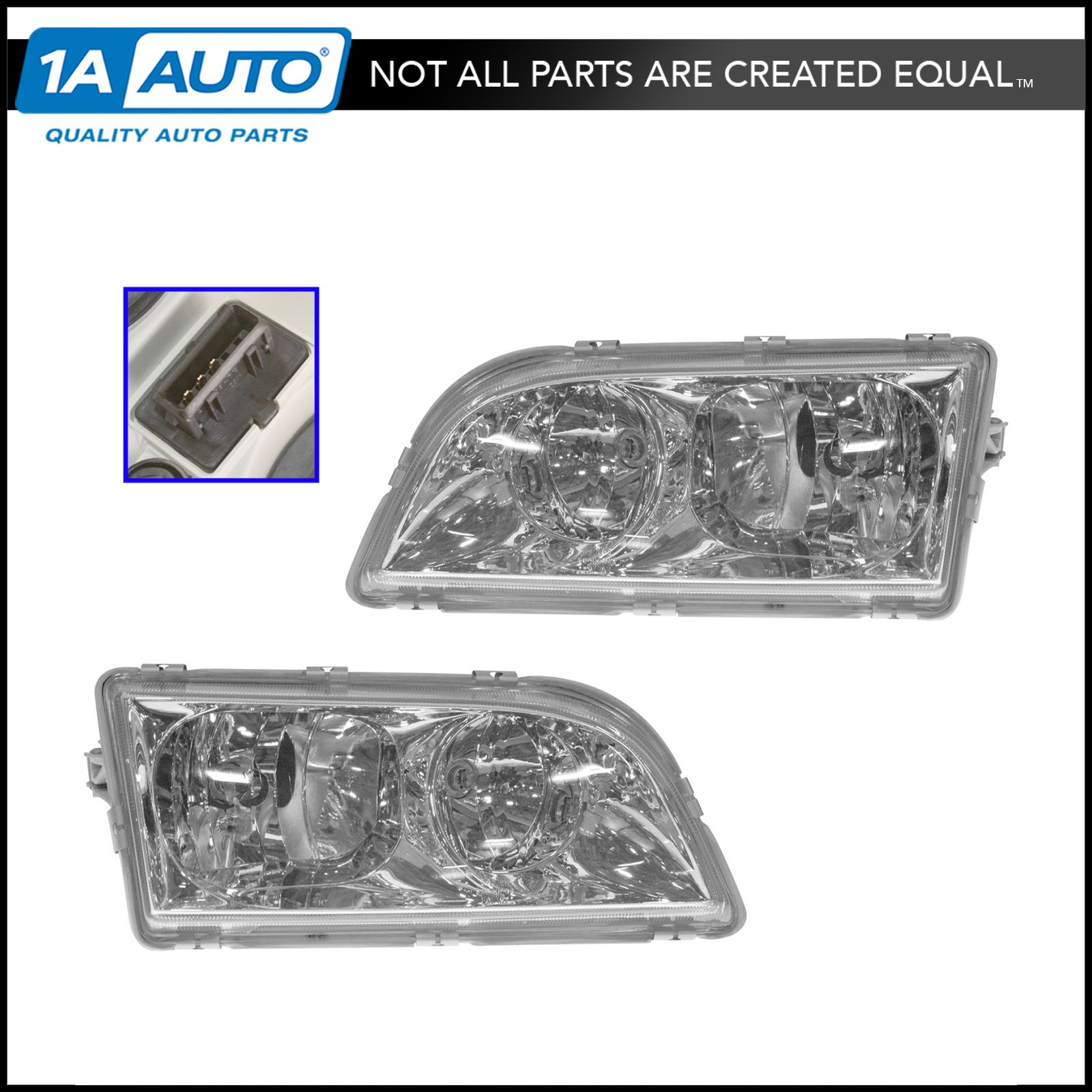 Details About Front Headlights Headlamps W Brackets Pair Set Kit For 00 04 Volvo S40 V40