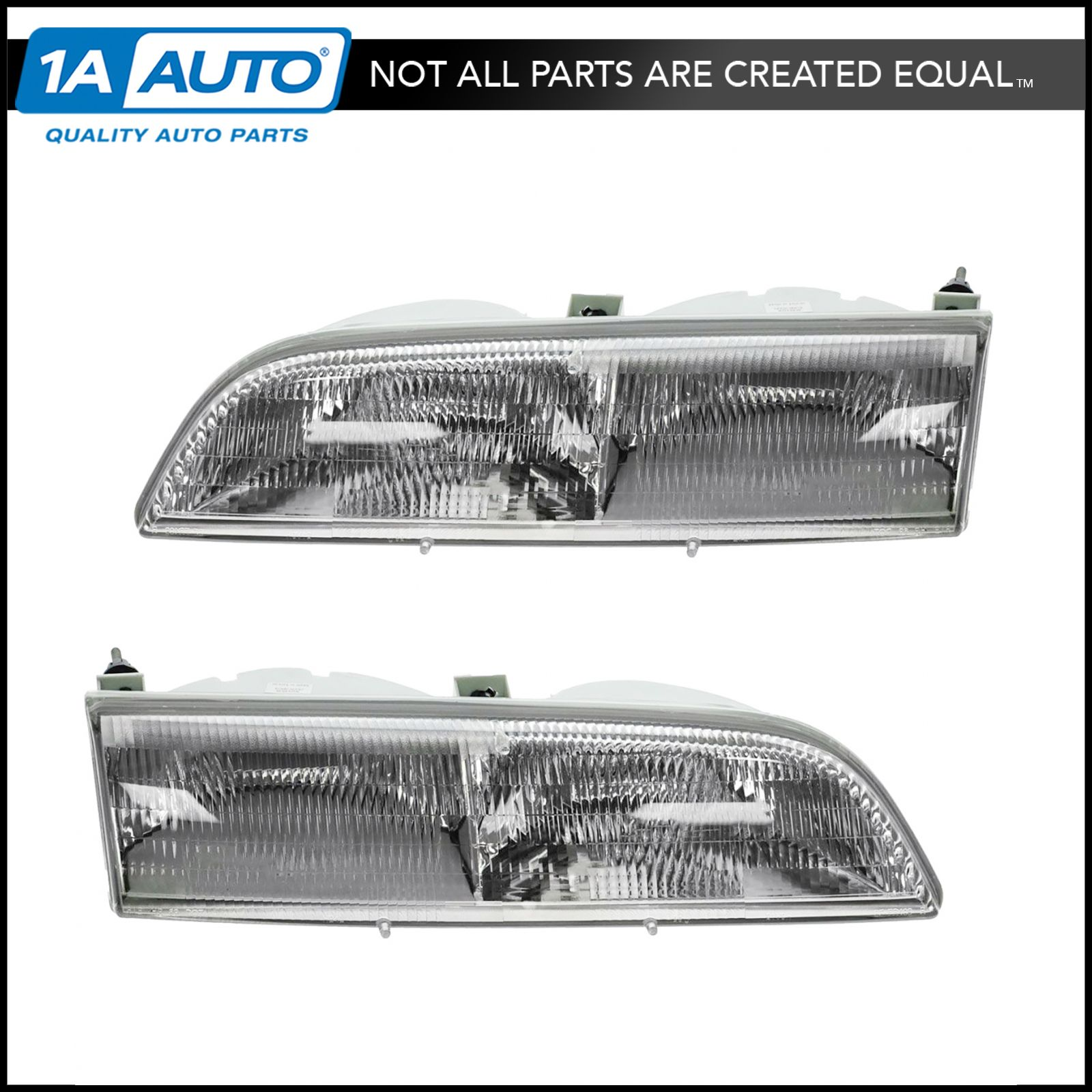 1993 Ford Thunderbird Exterior: Headlights Headlamps Left & Right Pair Set For 89-93 Ford