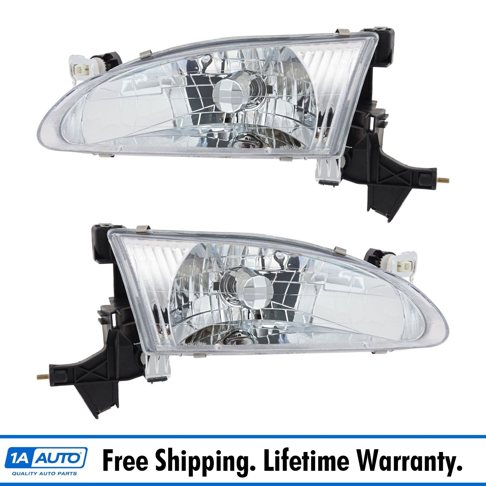 Details About Headlights Headlamps Left Right Pair Set New For 98 00 Toyota Corolla