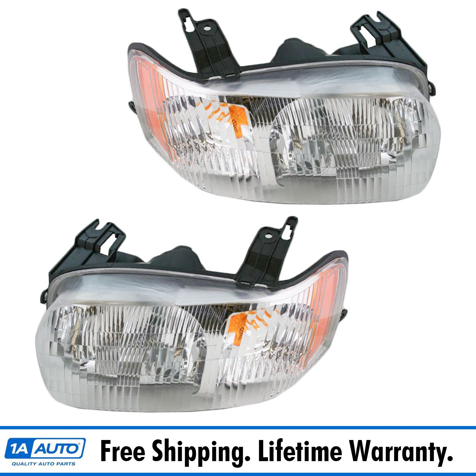 NEW LH /& RH HEAD LAMP ASSEMBLY FOR 2001-2004 FORD ESCAPE FO2518103 FO2519103