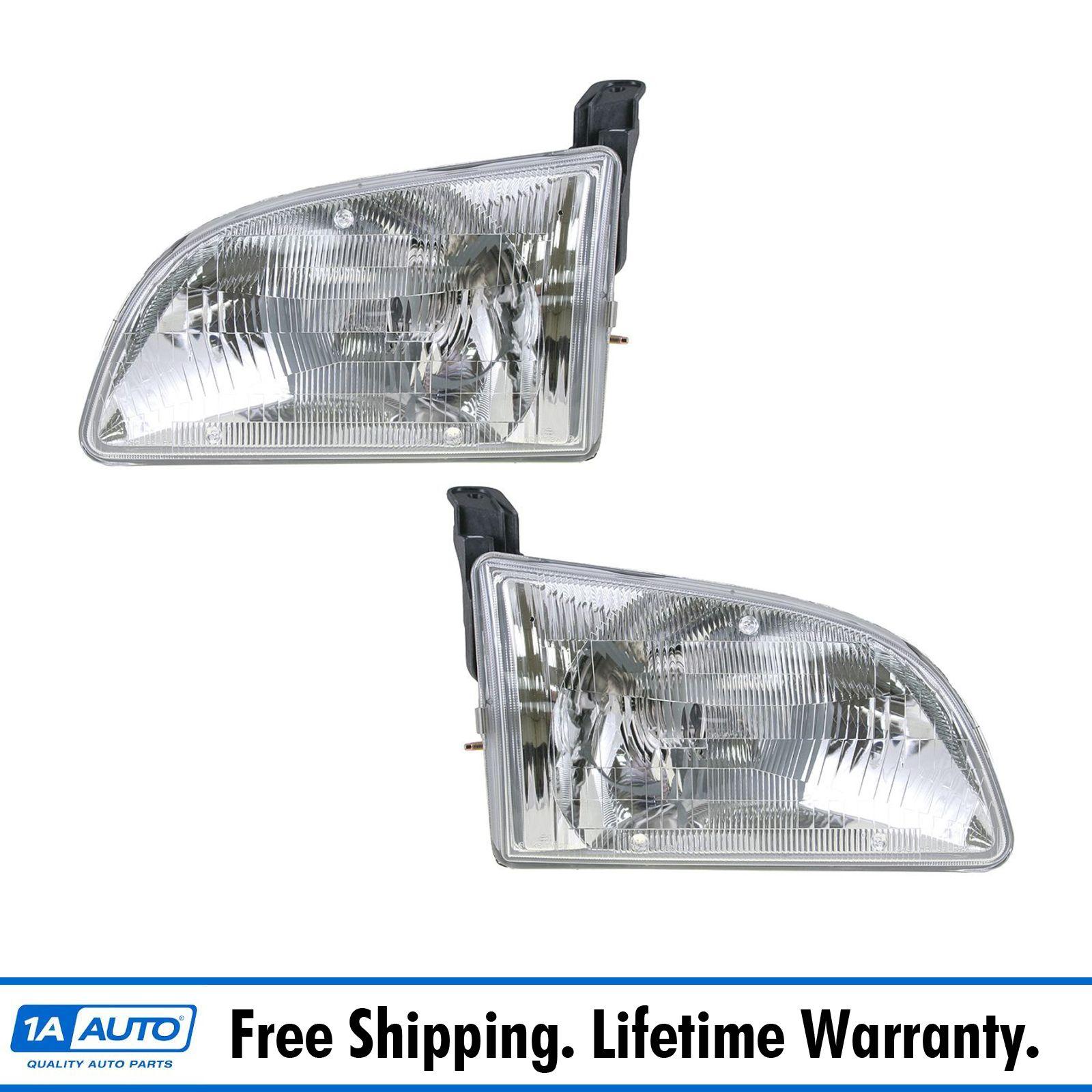 Front Headlights Headlamps Lights Lamps Lh  U0026 Rh Pair Set