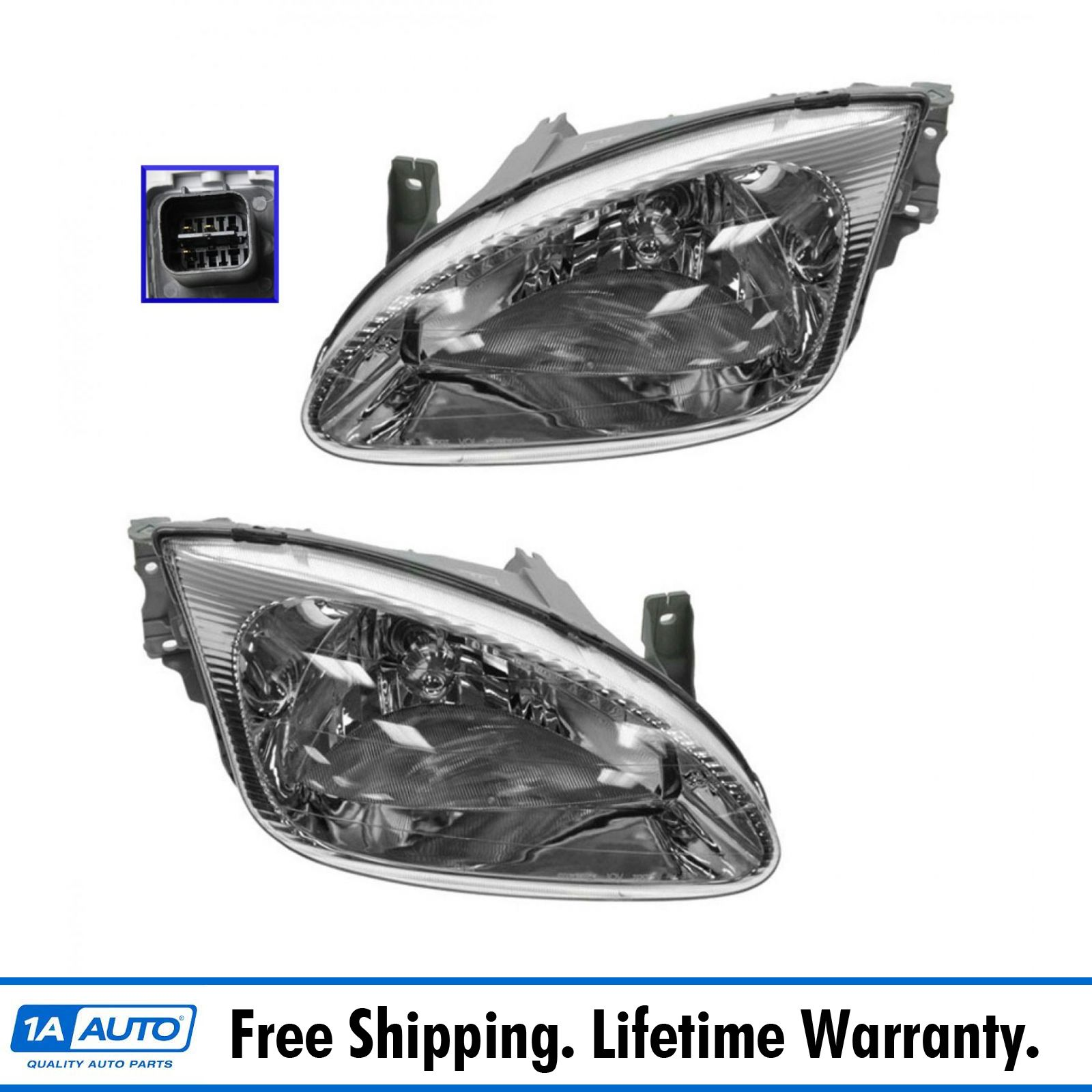 Headlights Headlamps for 99-00 Hyundai Elantra Right Side Only