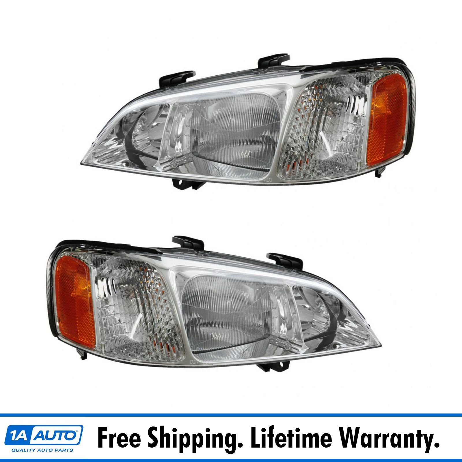 Headlights Headlamps Left & Right Pair Set NEW For 99-01