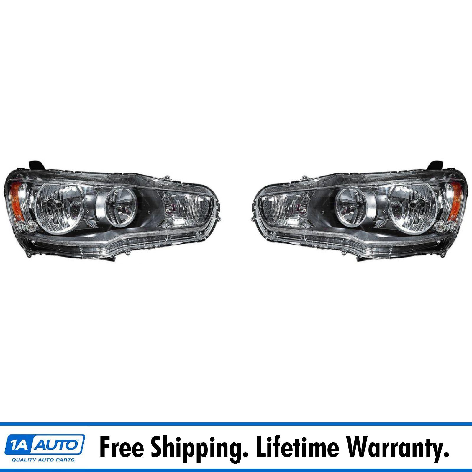 for 2008-2015 Mitsubishi Lancer Halogen Ver. Pair Halo Projector Headlights