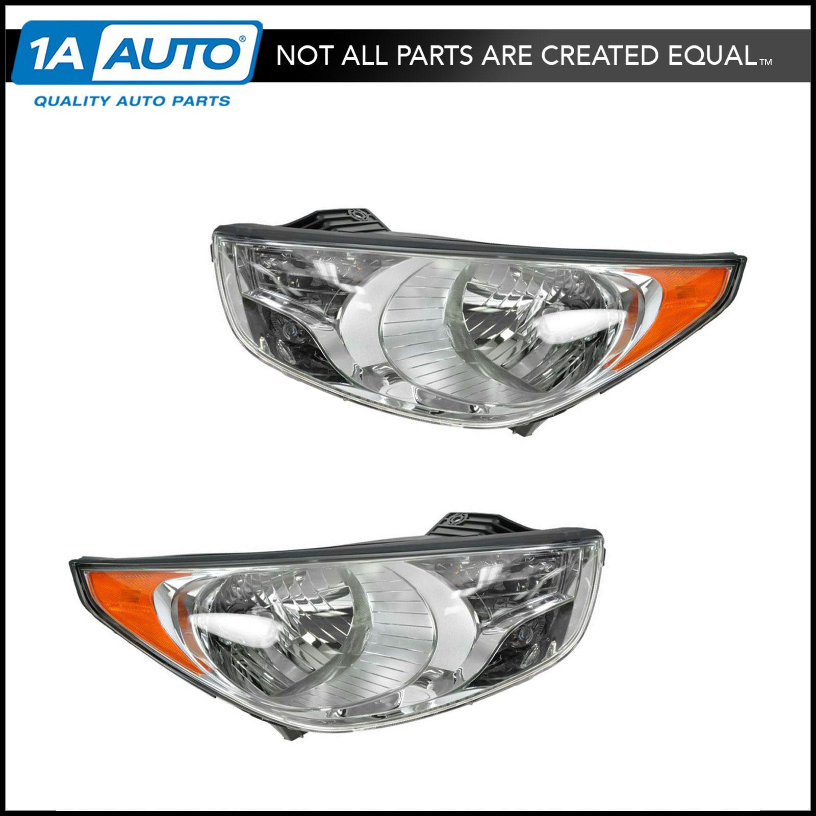 Headlight Headlamp Left Driver Amp Right Passenger Pair Set