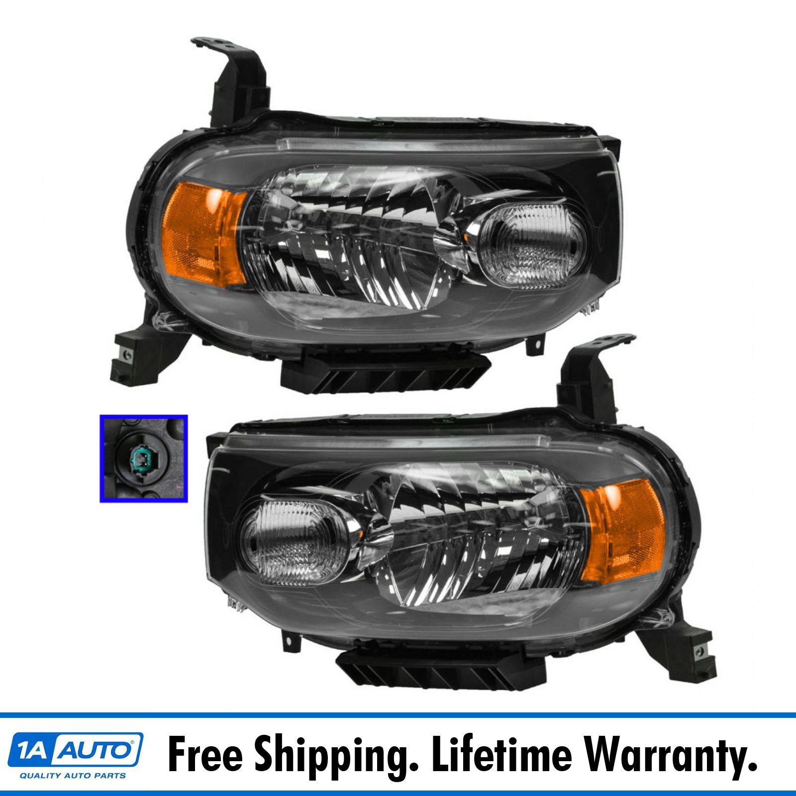 Headlamp Headlight Light Lamp Passenger Driver Pair Set For 09 13 Nissan Cube Ebay