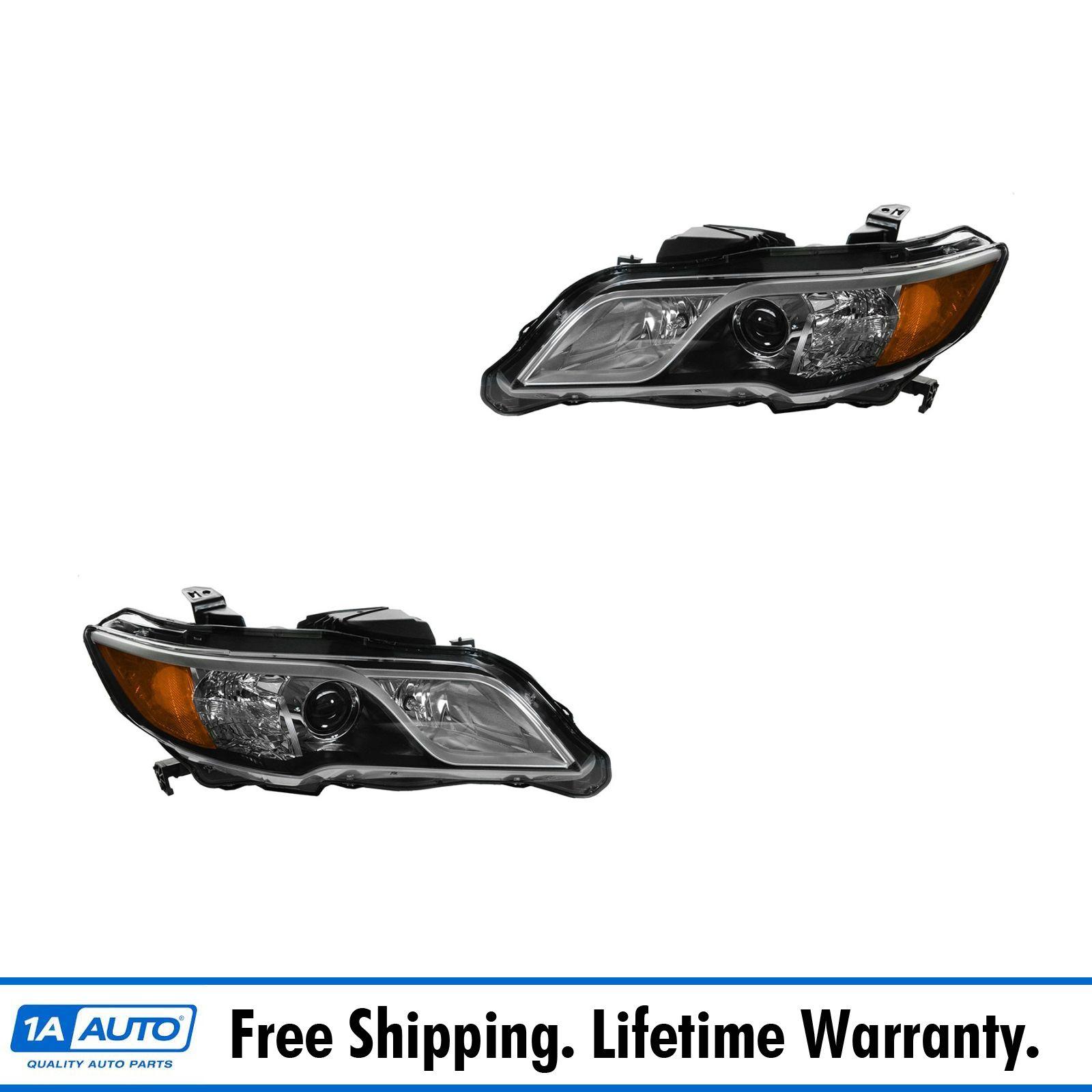 Halogen Headlight Headlamp Pair Set For Acura RDX NEW