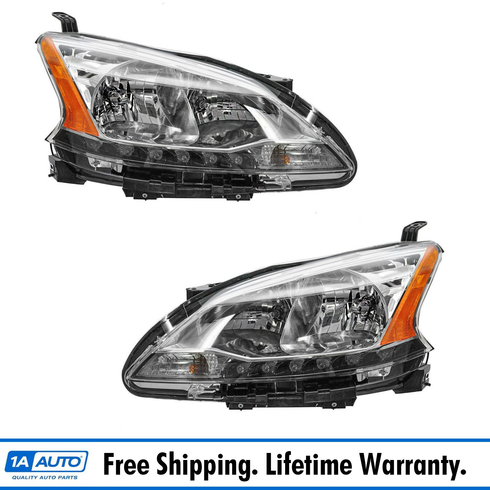 For Sentra 02-03 HEAD LAMP RH,Assembly,Halogen,w// Chrome Trim,CA//GXE//XE//Limited