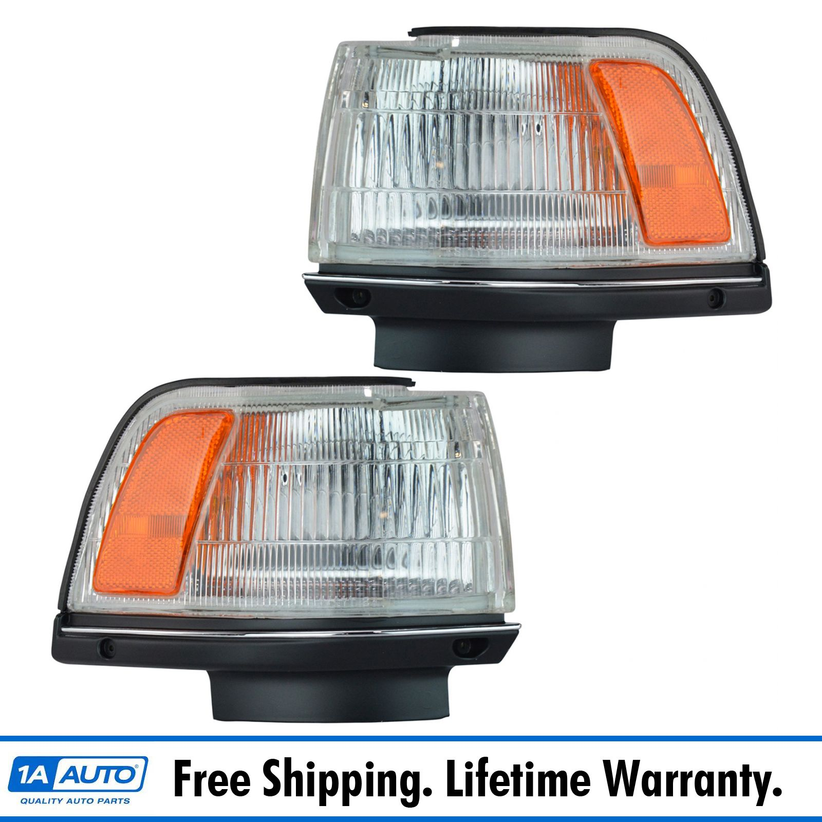 Side Corner Marker Parking Turn Signal Light Lamp Pair Set for 87-91 Camry