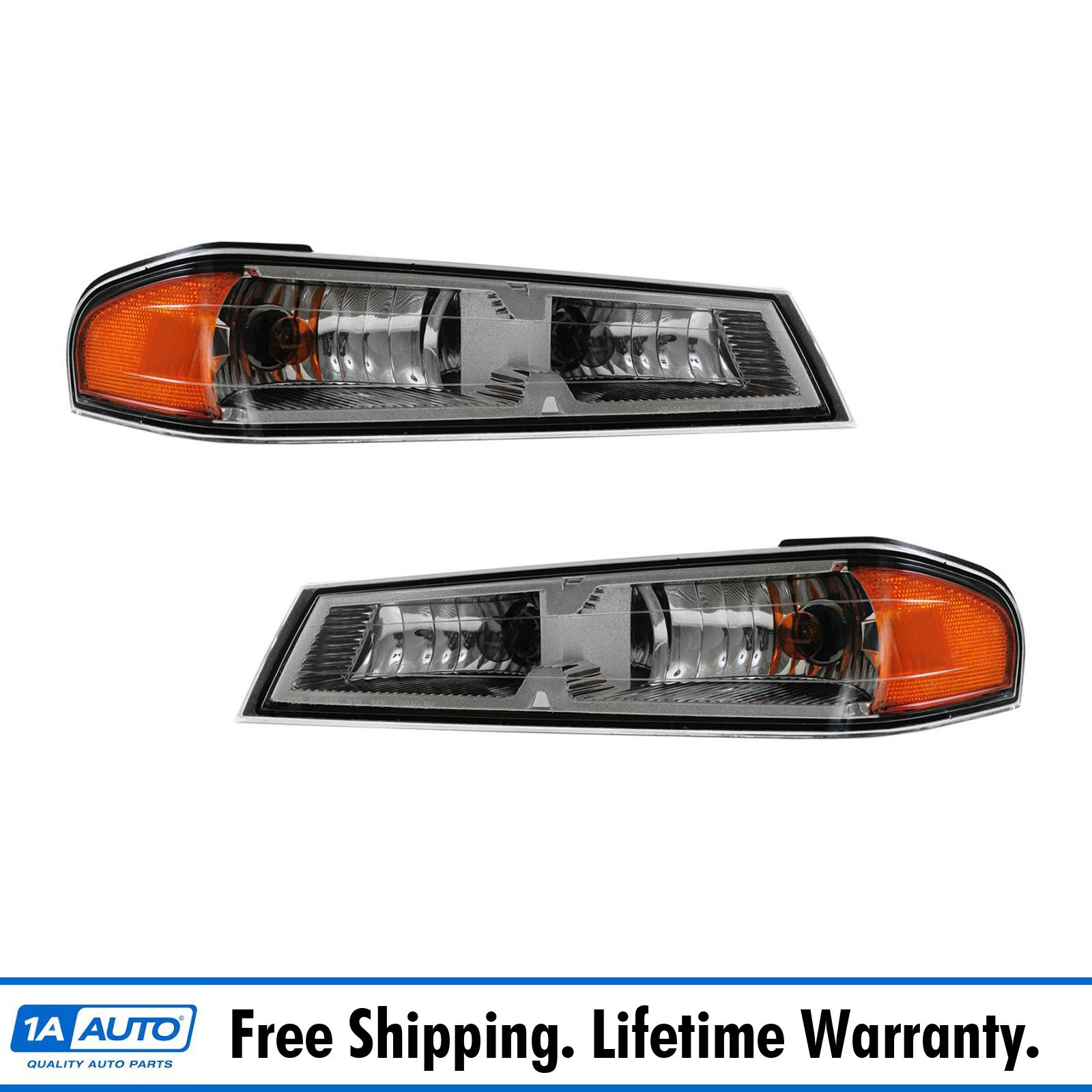Lower Corner Parking Turn Signal Light Lamp LH /& RH Pair Set for Chevy Truck