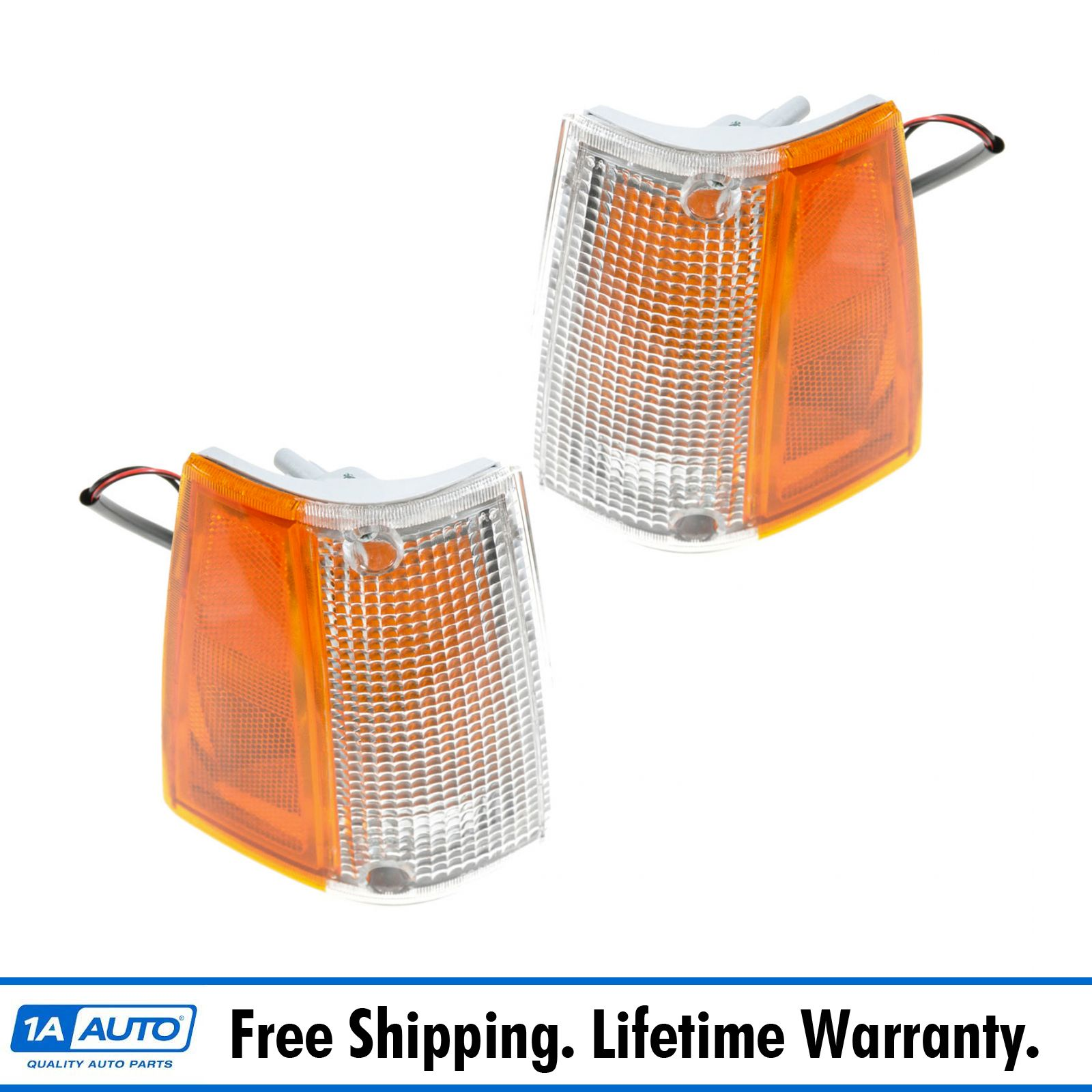 Corner Parking Side Marker Turn Signal Lights Lamps Pair Set for 01-05 Ranger