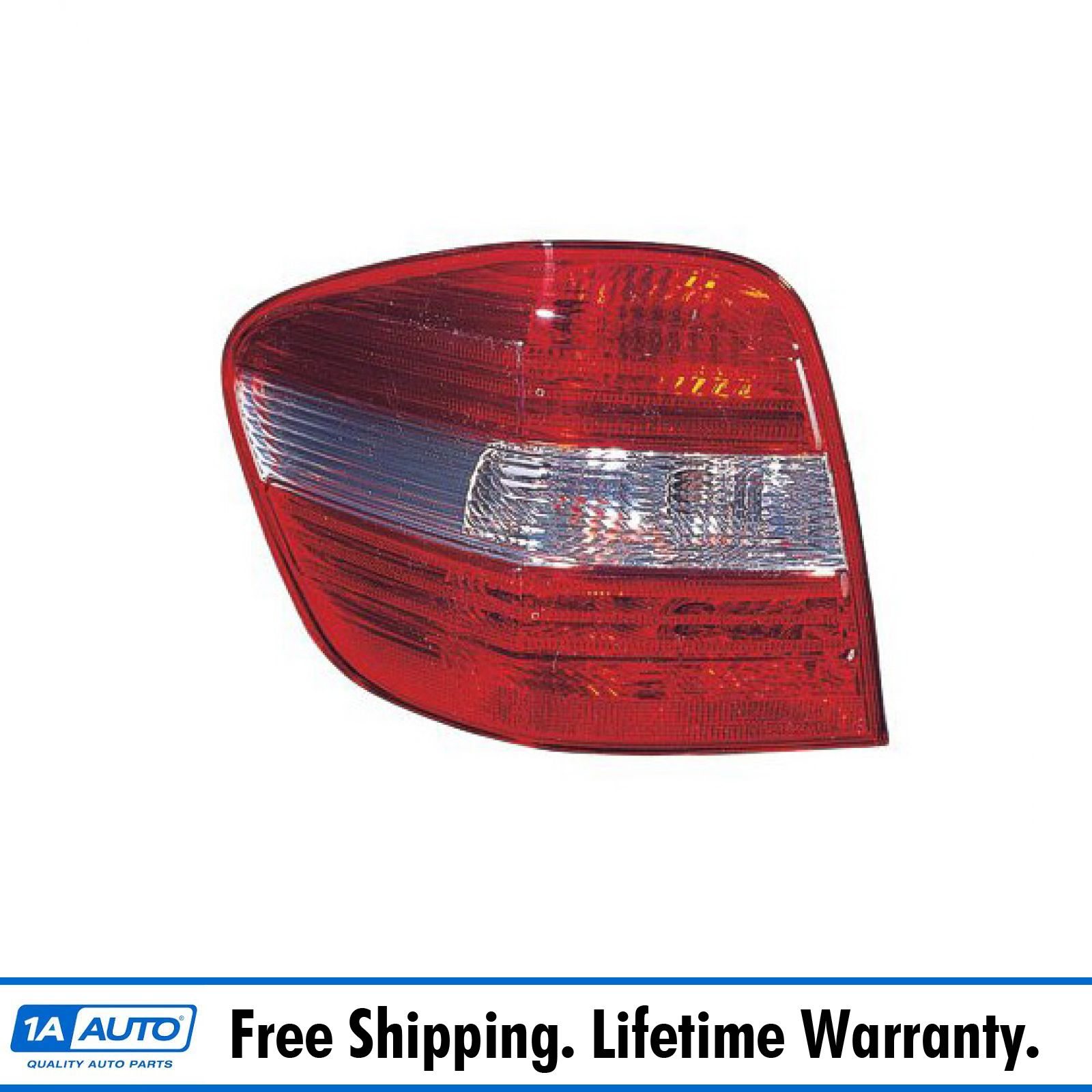 Taillight Lamp w// Clear Lens Driver Side LH for 06-11 Mercedes Benz ML Class