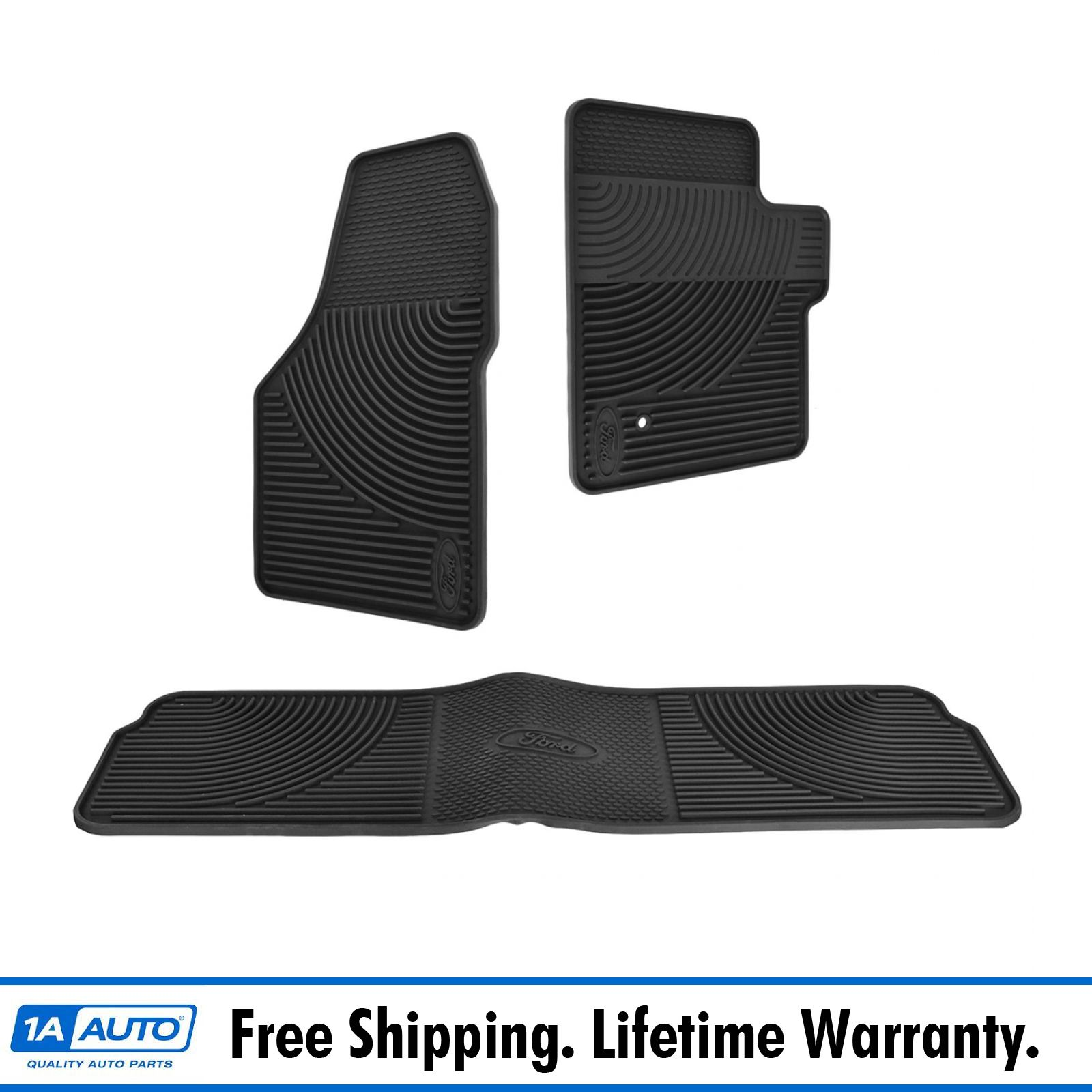 Ford F 350 Super Duty Carpet Replacement 99 07: OEM Floor Mat Black Rubber All Weather Set For 05-10 Ford