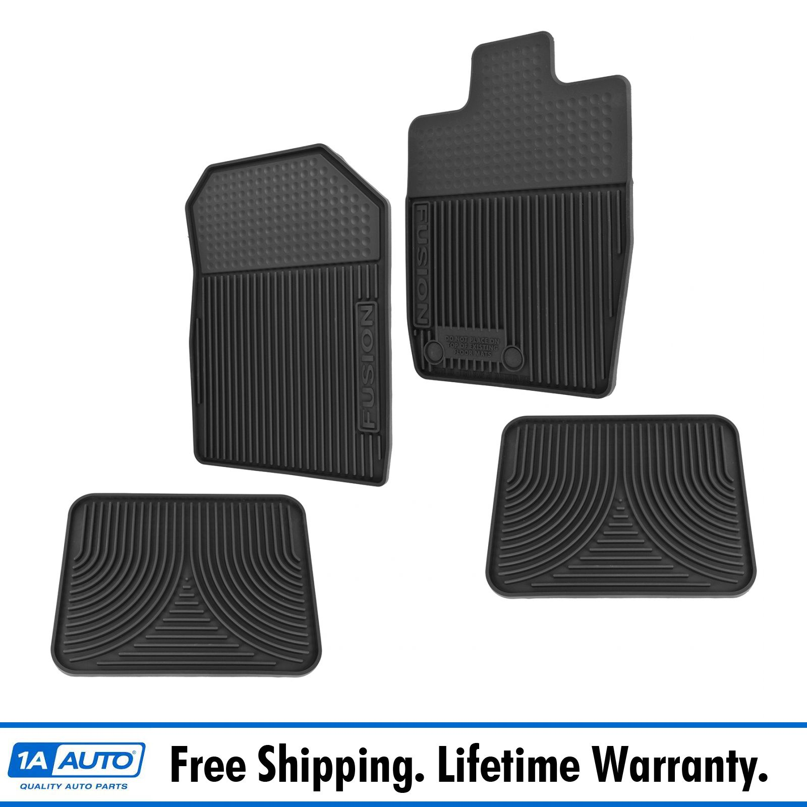OEM All Weather Floor Mat Black Set of 4 LH RH Front Rear Black for Ford  Fusion