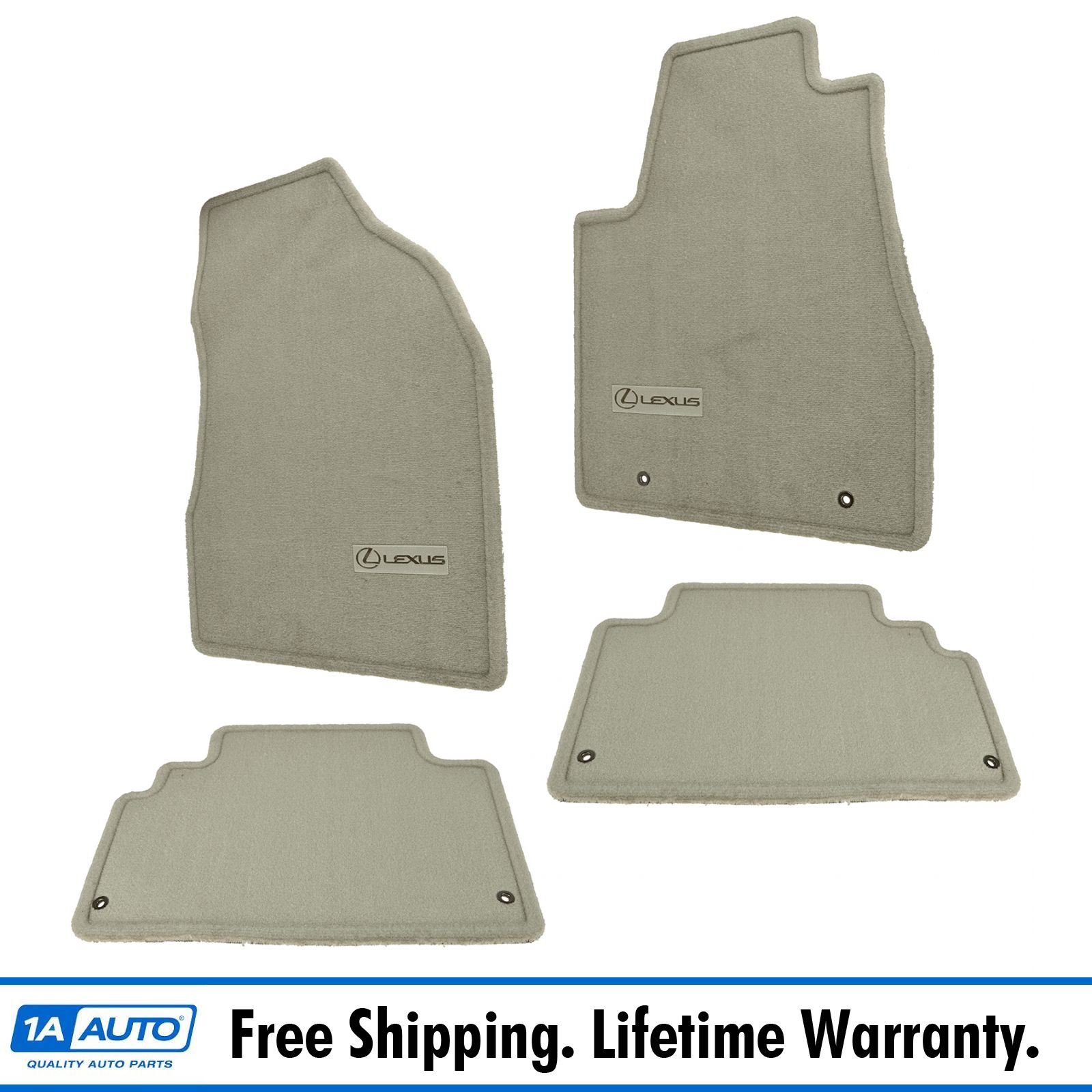 Lexus Rx350 Floor Mats: OEM Floor Mat Carpet Set Of 4 LH RH Front & Rear Ivory For