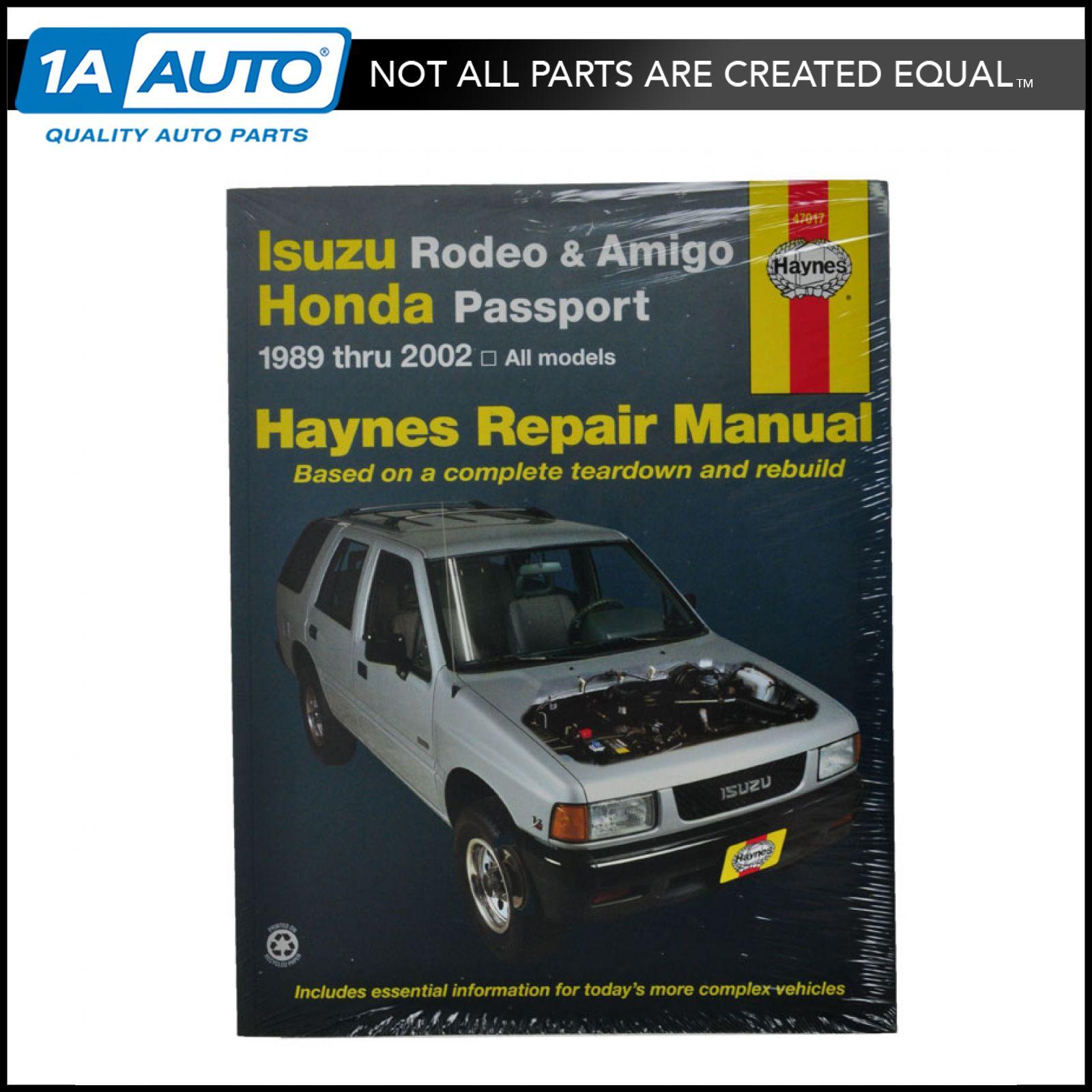 haynes repair manual for amigo passport rodeo 89 90 91 02 ebay rh ebay com Isuzu  Trooper Engine Diagram 1995 Isuzu Pickup Parts