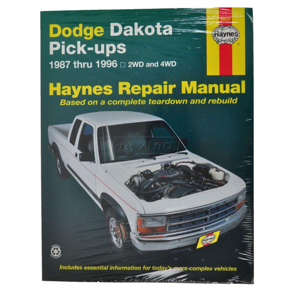 87 - 92 93 94 95 96 Dodge Dakota Haynes Repair Manual