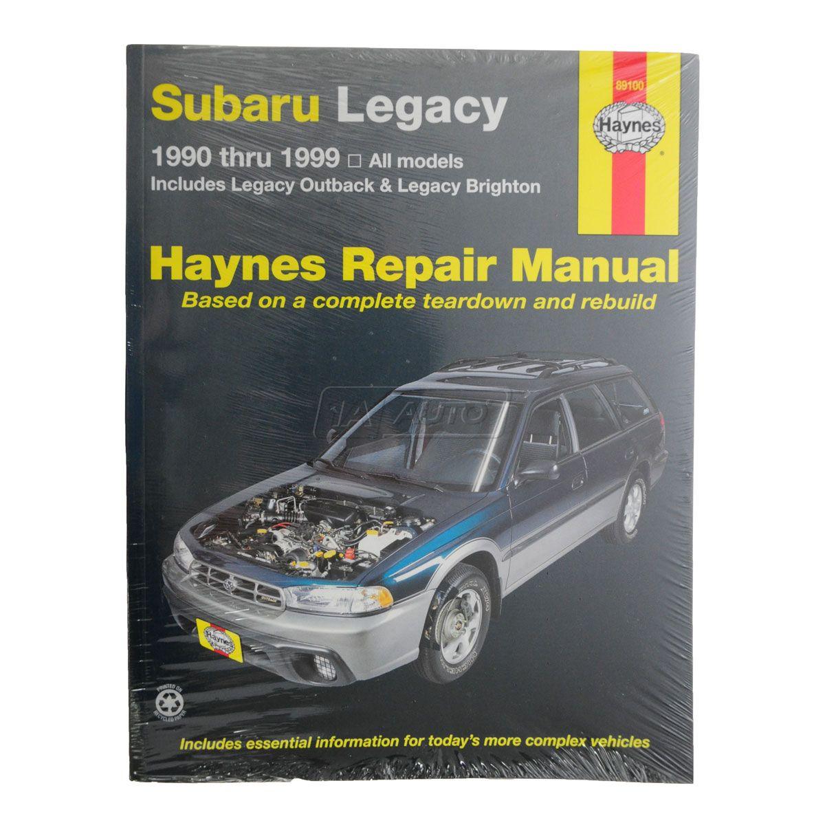 haynes repair manual for subaru legacy outback 90 99 ebay rh ebay co uk Online Repair Manuals Chilton Service Manuals