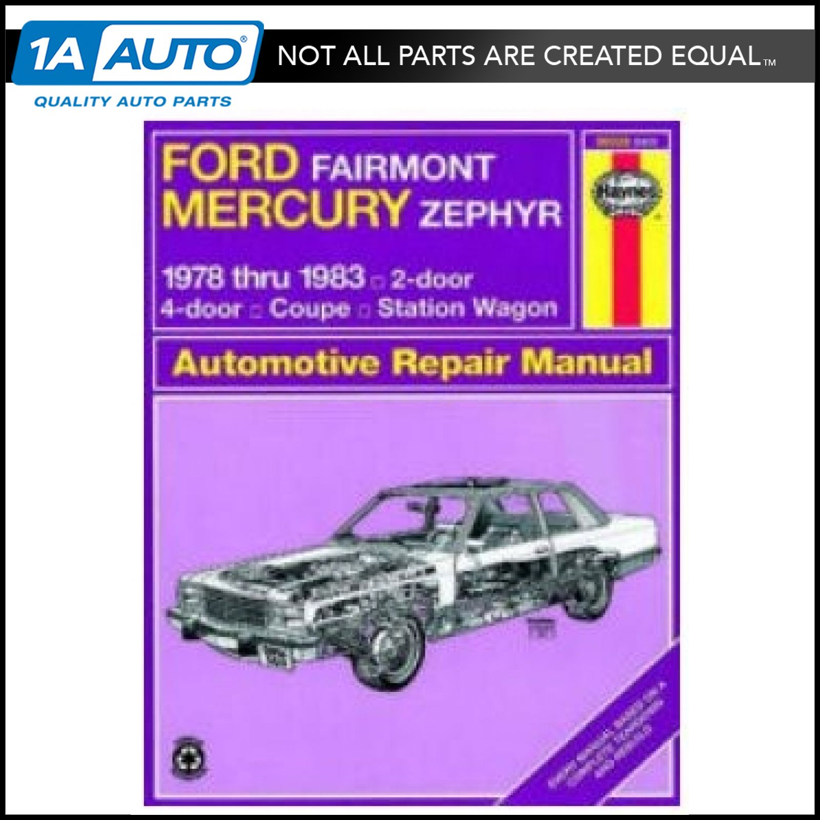Haynes Repair Manual For 78 83 Mercury Zephyr Ford Fairmont Ebay 1941 4 Door Sedan 1978