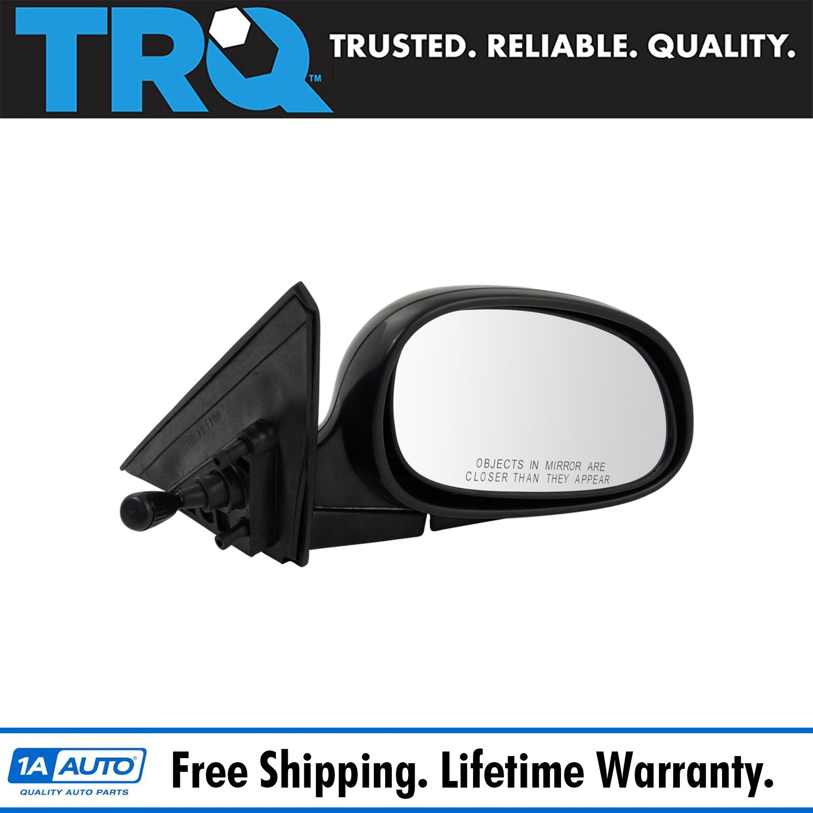 Manual Remote Side View Door Mirror Right Passenger Side for 96-00 Honda Civic