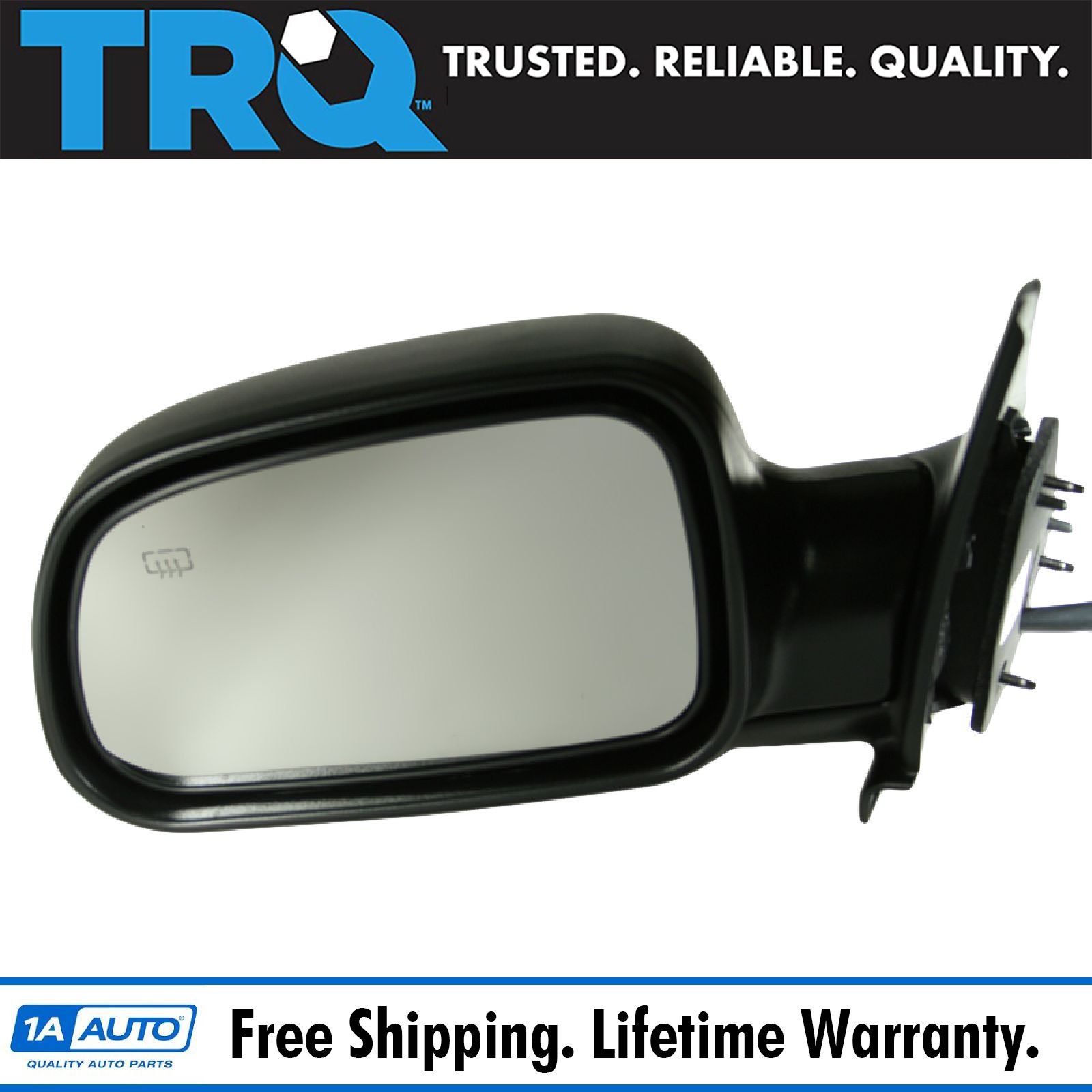 99-04 Grand Cherokee Power Non-Heated Folding Rear View Mirror Left Driver Side