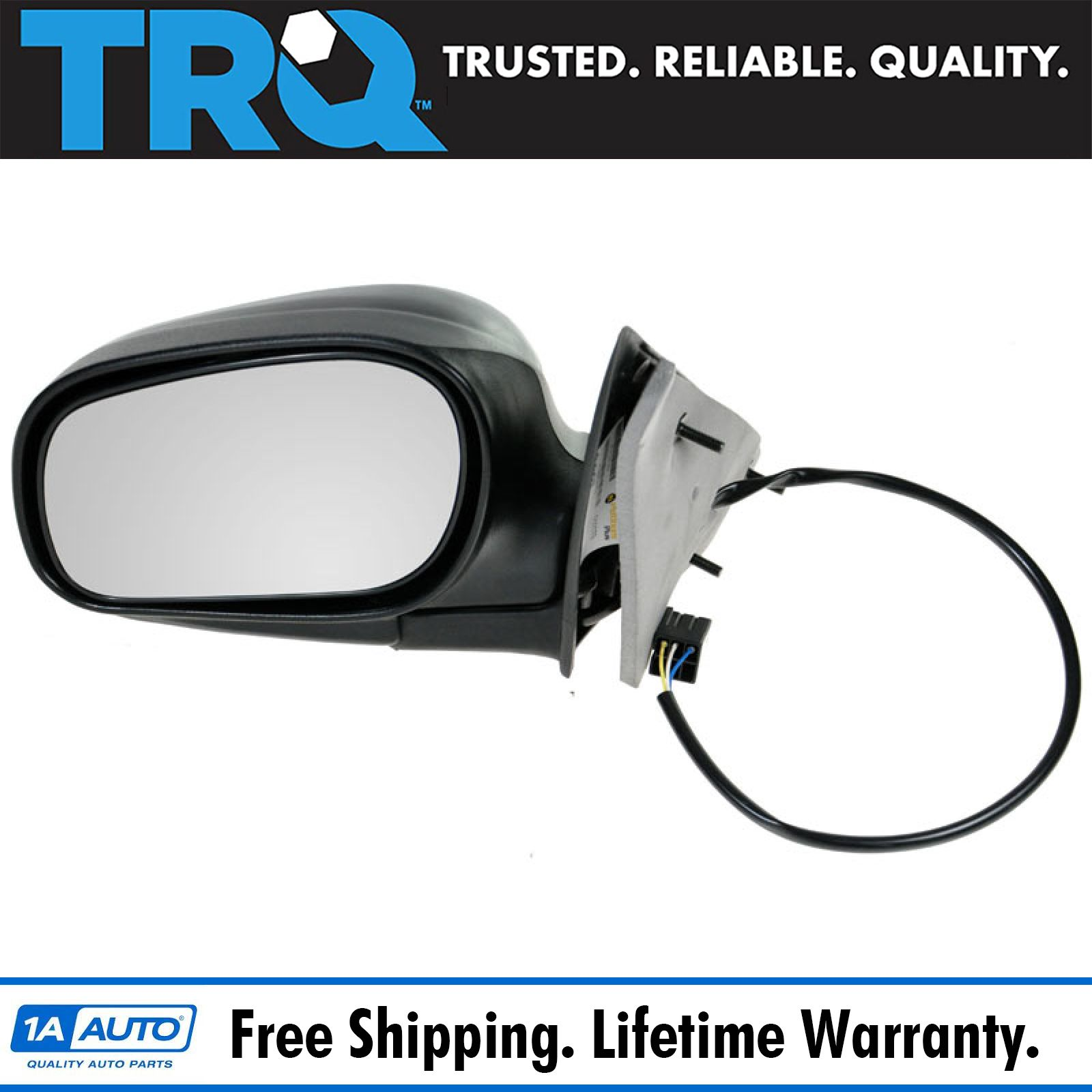 Trq Power Side View Mirror Driver Left Lh For 98