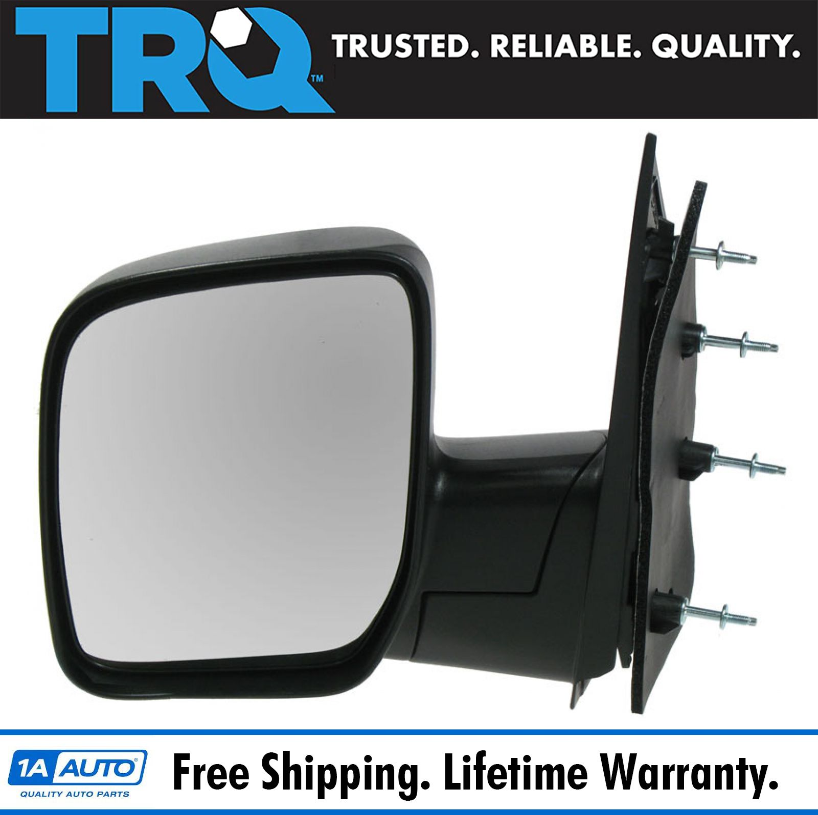 New Door Handles Set of 2 Front Driver /& Passenger Side E350 Van E150 Black Pair
