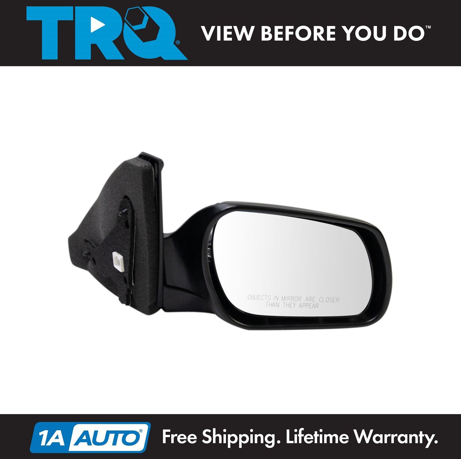 TRQ Mirror Power Heated Signal Smooth Black RH Passenger Side for Hyundai Sonata