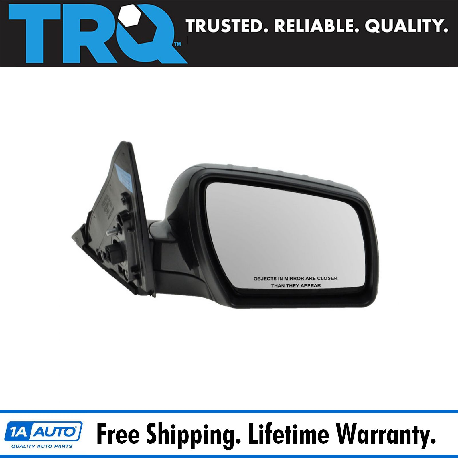 for 2007 2009 Mitsubishi Outlander RH Passenger Side Right Mirror Power Smooth