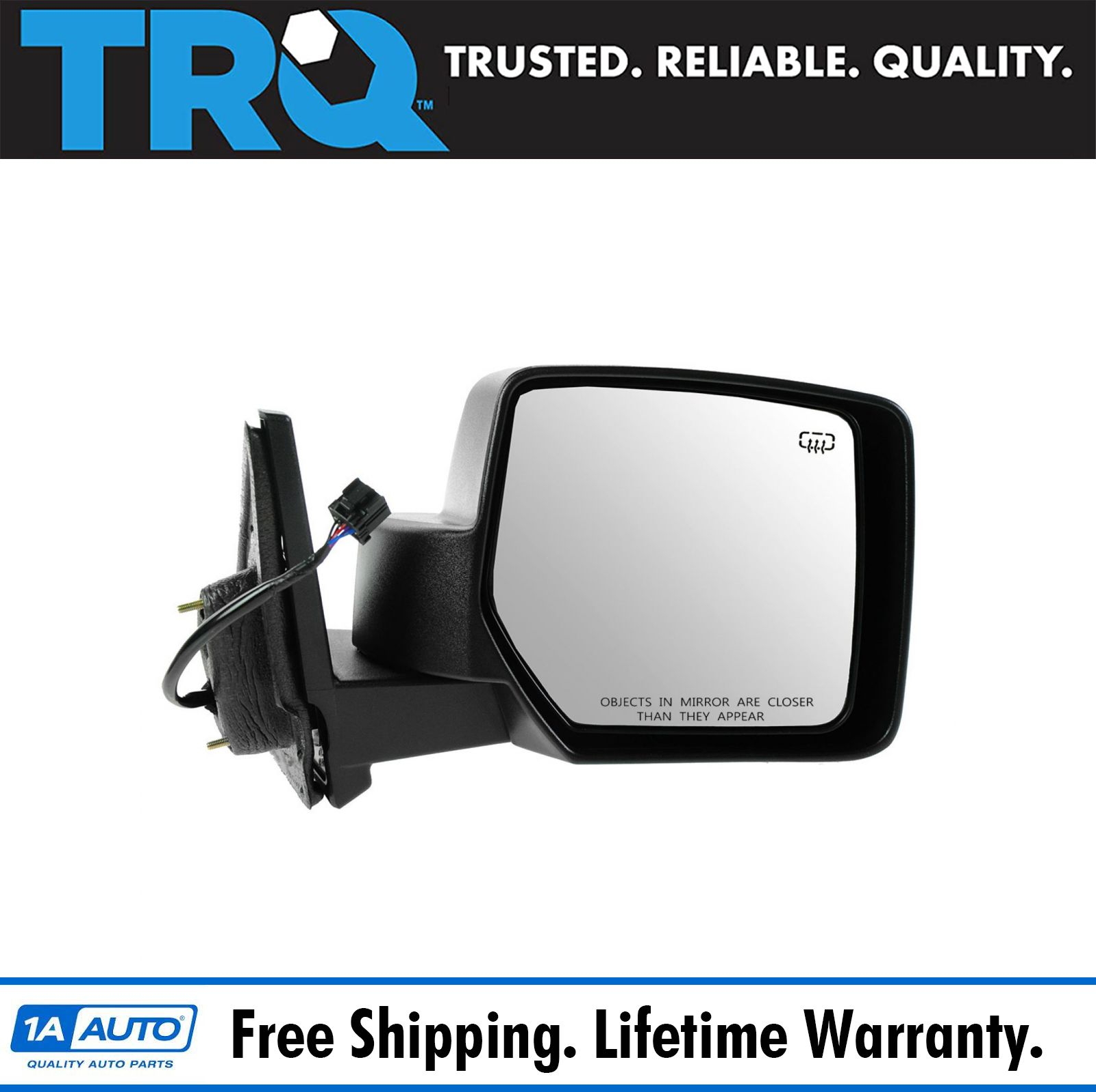 RH Side Textured Black Power Heated Mirror Fits Jeep Patriot CH1321283