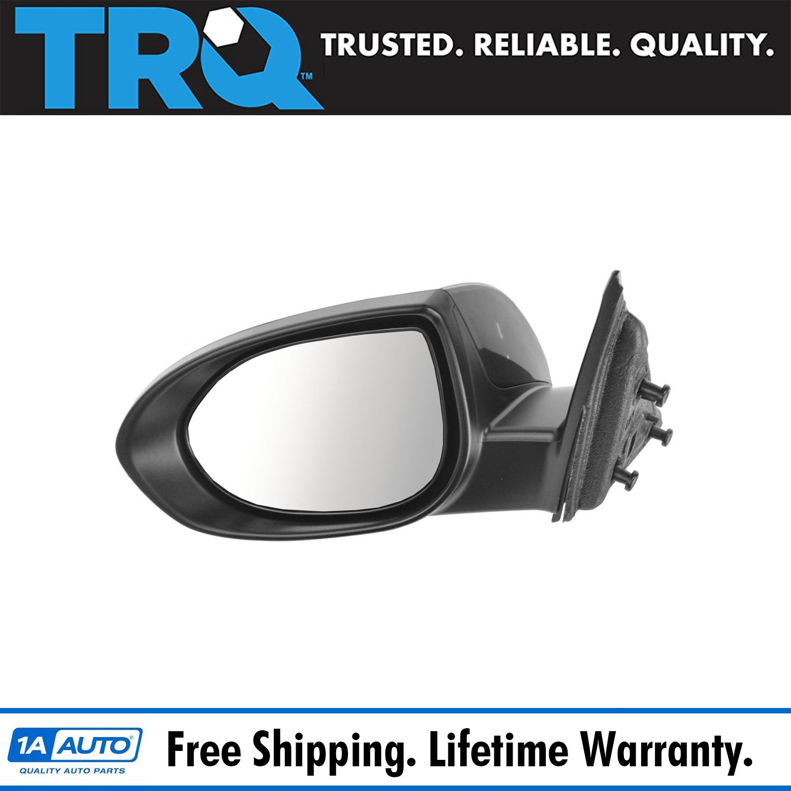 Mirror Power Smooth Black Passenger Side Right RH for 09-13 Toyota Venza