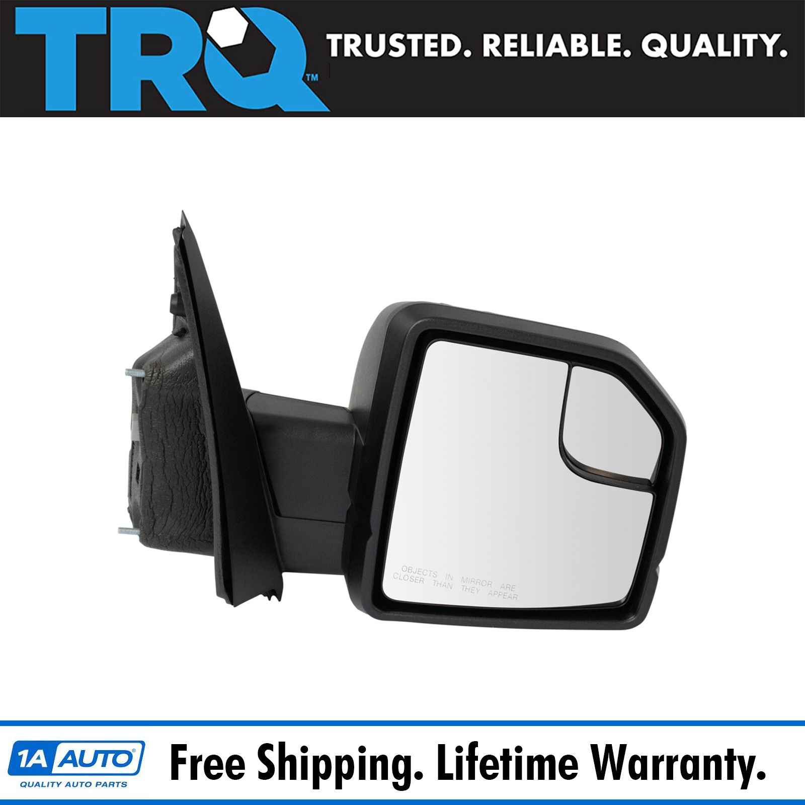 Mirror Power Signal Black RH Right Passenger Side for Ford F150 Pickup