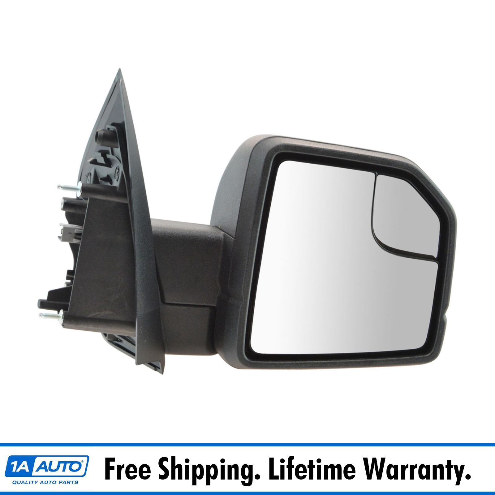 Details About Oem Black Textured Power Mirror With Spotter Glass Rh For F150 Pickup Truck New