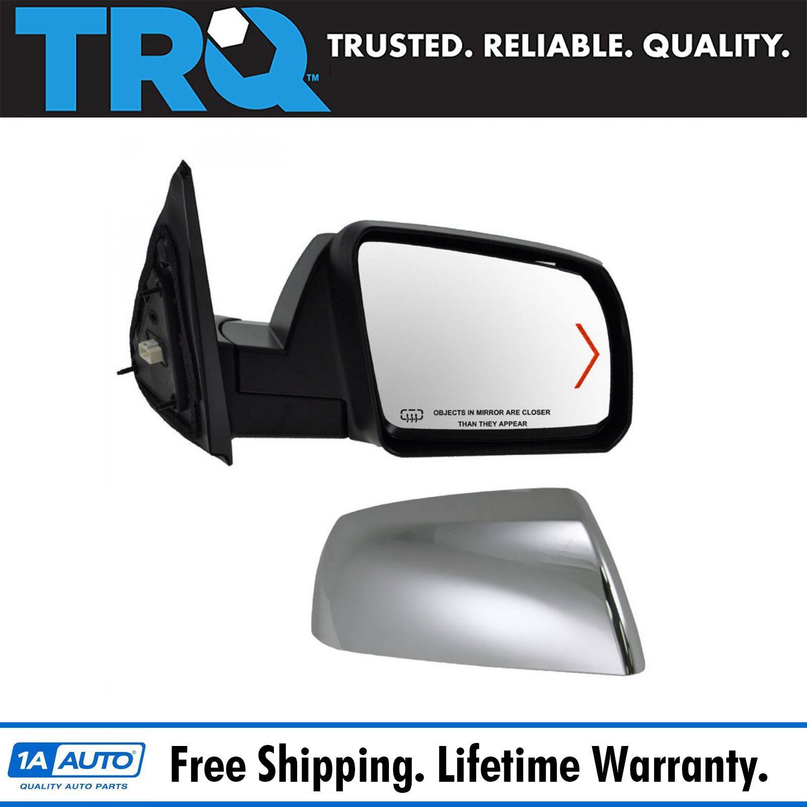 Silver Power Heated Side View Mirror Passenger Right RH for Chevy GMC Truck
