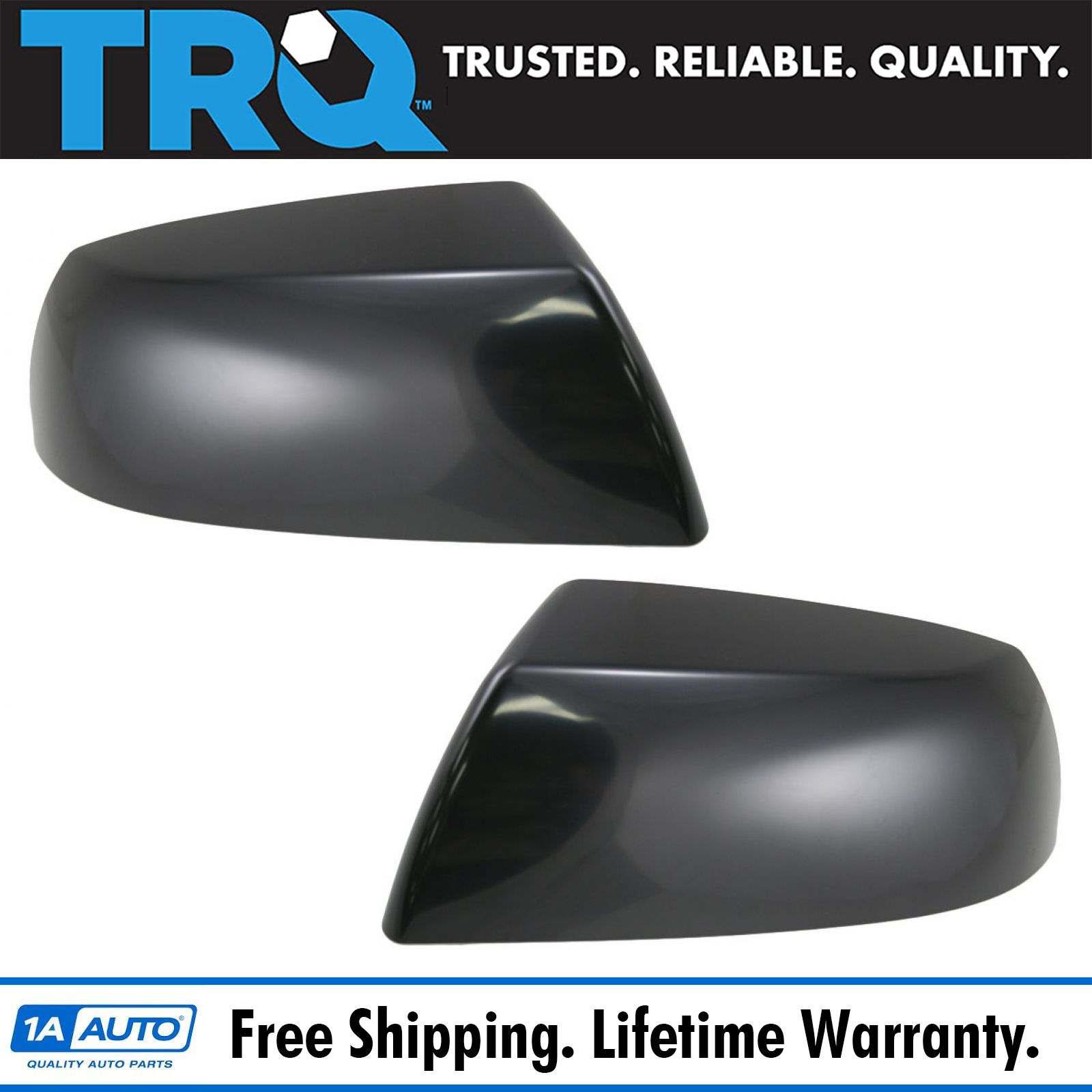 Fits Toyota Sequoia Tundra Truck Set of Side Power Mirrors Heat Chrome Covers