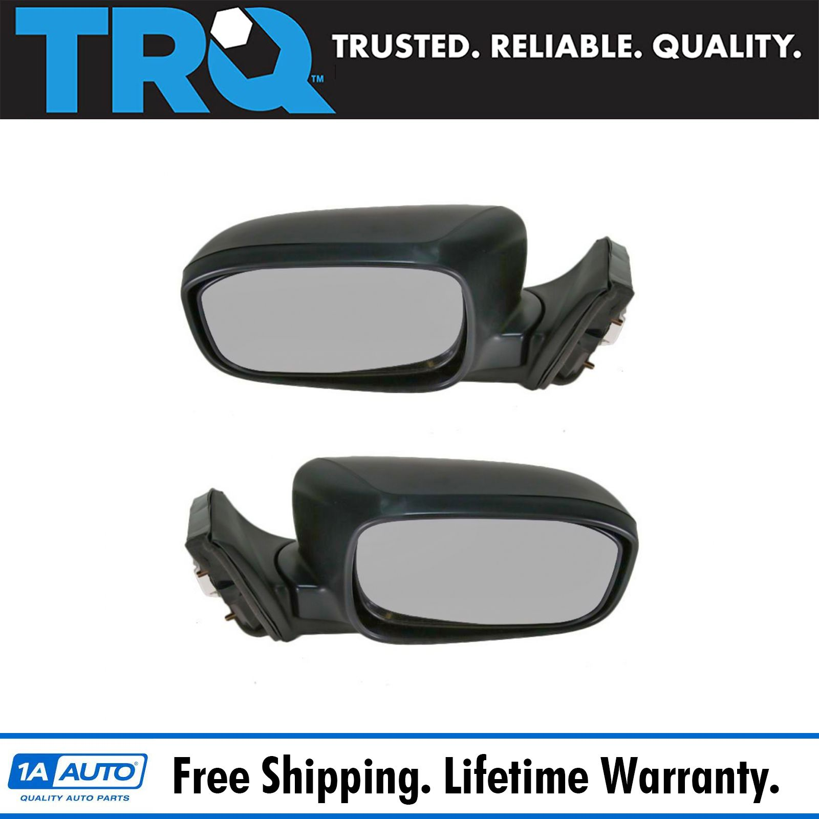 Folding Power Side View Mirrors Left Right Pair Set For 03 07 Accord Sedan Ebay