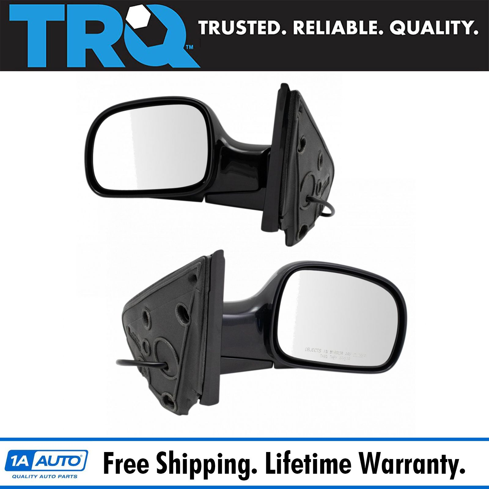 Power Side View Mirrors Left /& Right Pair Set for 02-05 Pontiac Grand Am