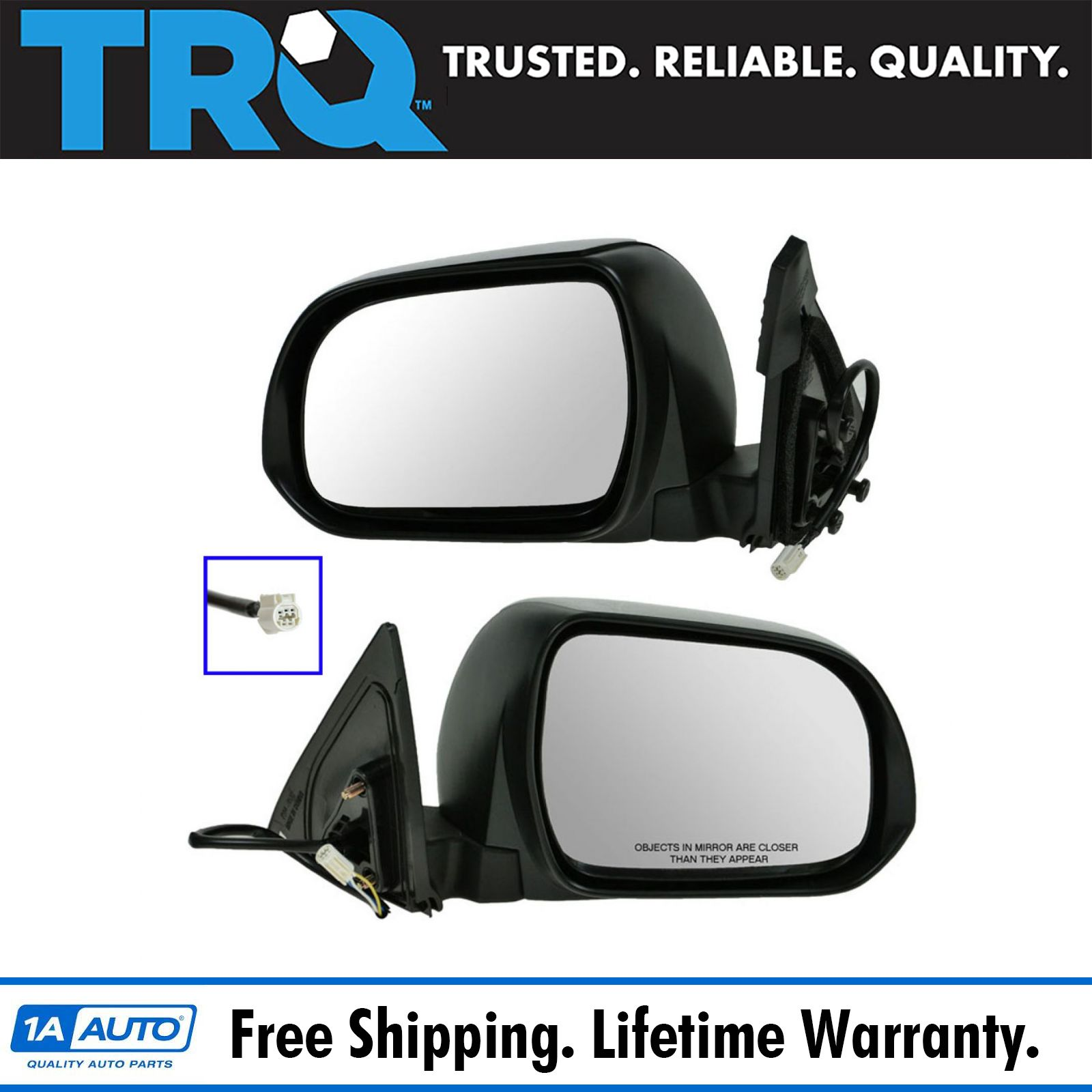 Trq Power Mirrors Pair For Toyota Highlander 2008 11 Ebay
