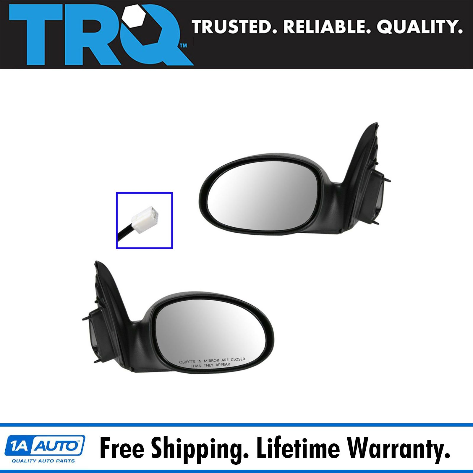 Passenger Side View Black Power Towing Mirrors for 2004-10 Toyota Sienna Mirror