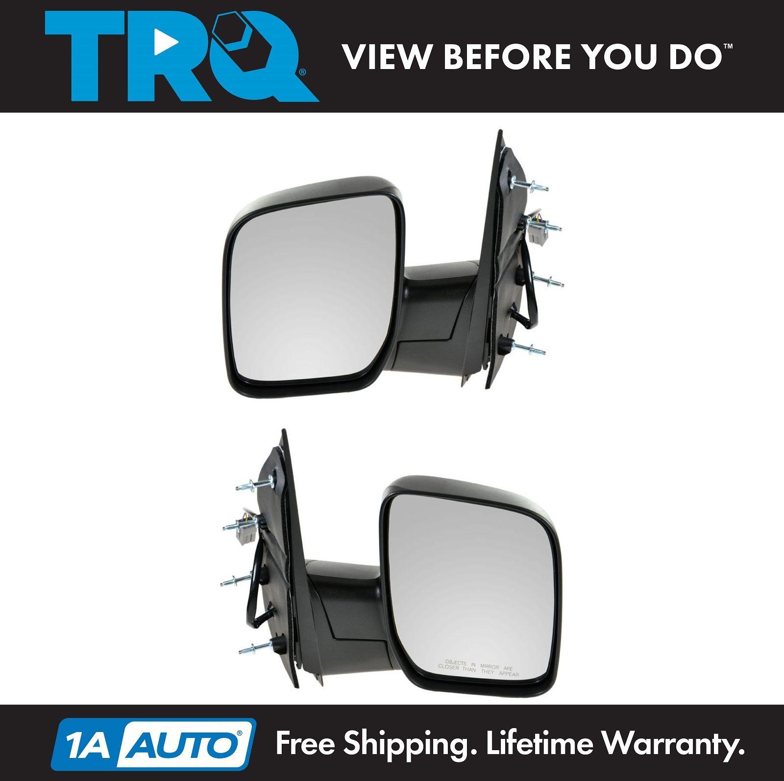 02-08 Econoline Van Manual Folding Rear View Mirrors Left /& Right Side SET PAIR