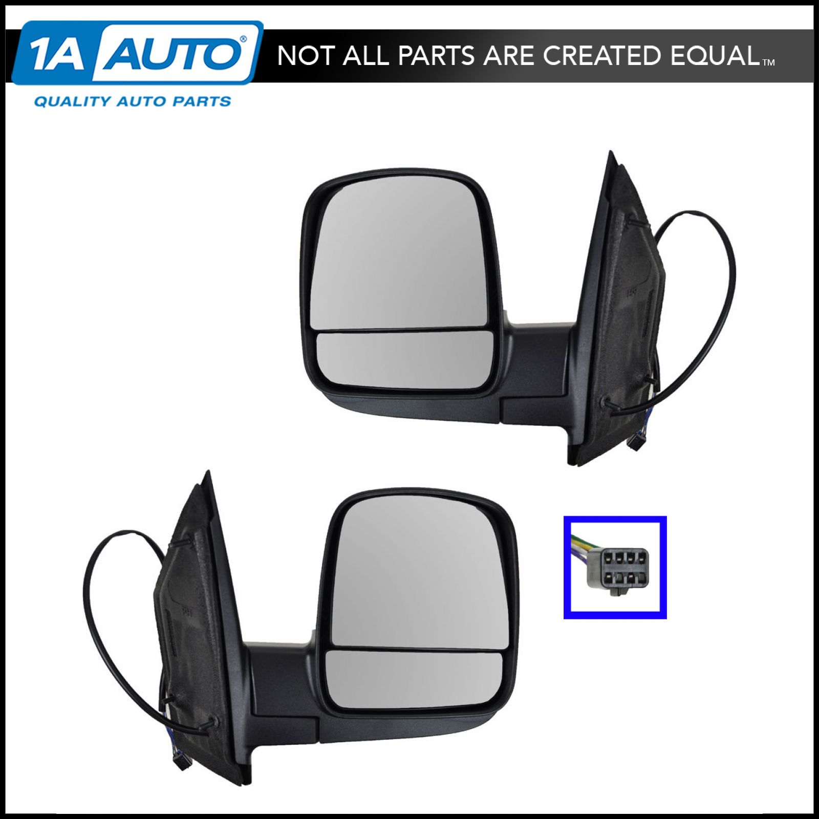 Manual Side Mirrors Left /& Right Pair Set LH RH for 96-02 GMC Chevy Van