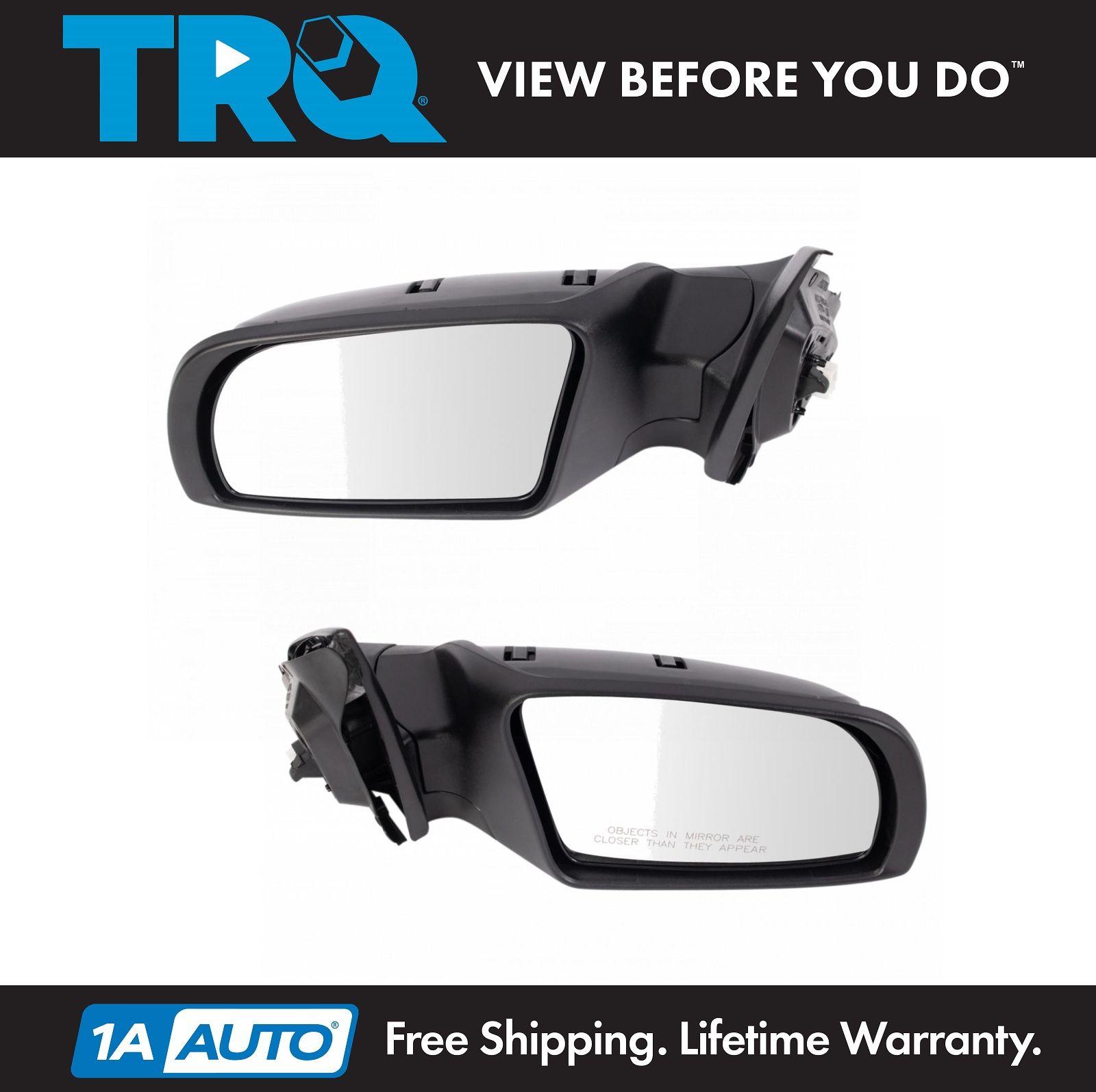 2007-2012 Altima Sedan Power Turn Signal Smooth Black Mirror Driver Side Left LH